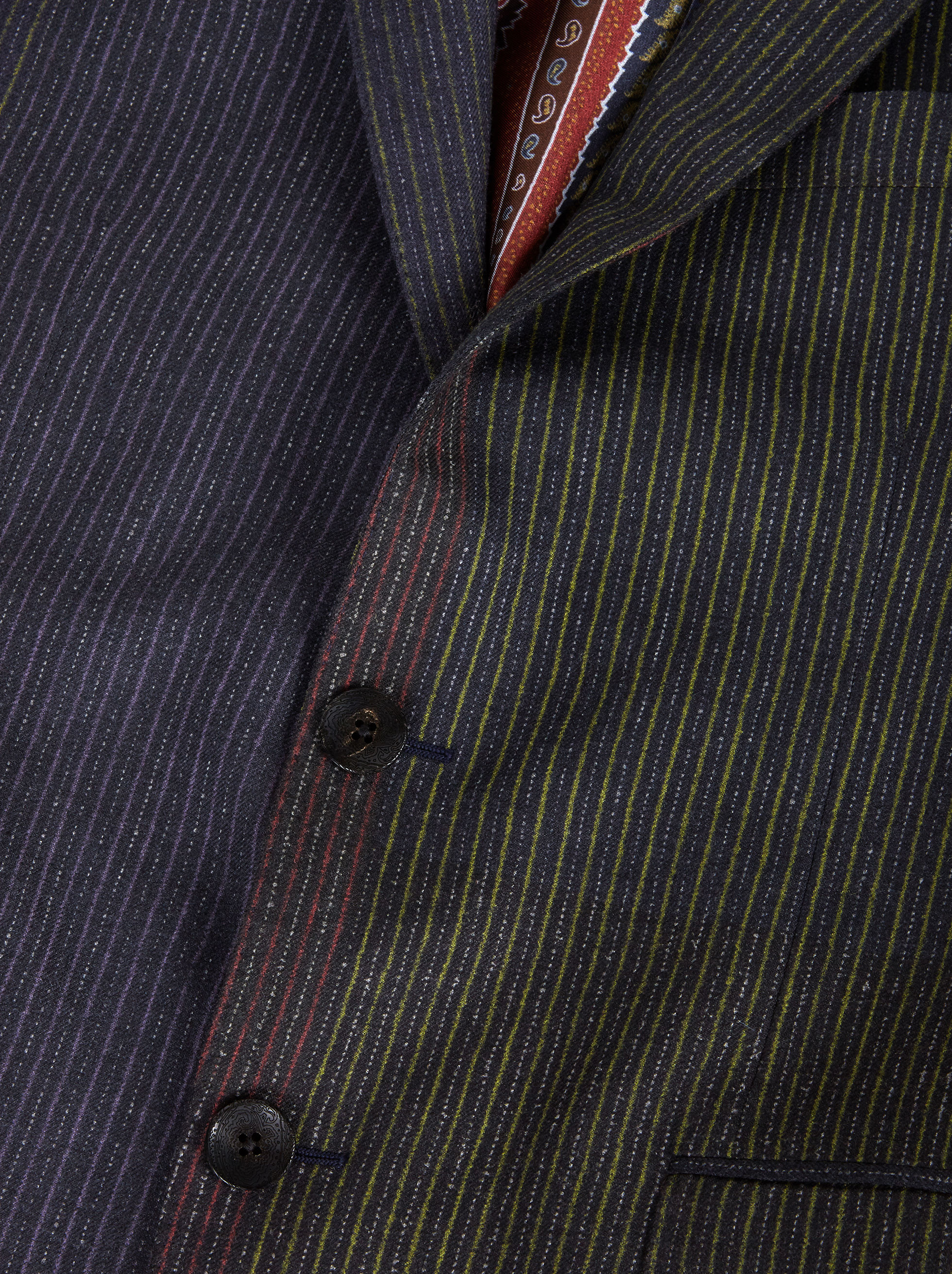 PATCHWORK PINSTRIPE TAILORED SUIT