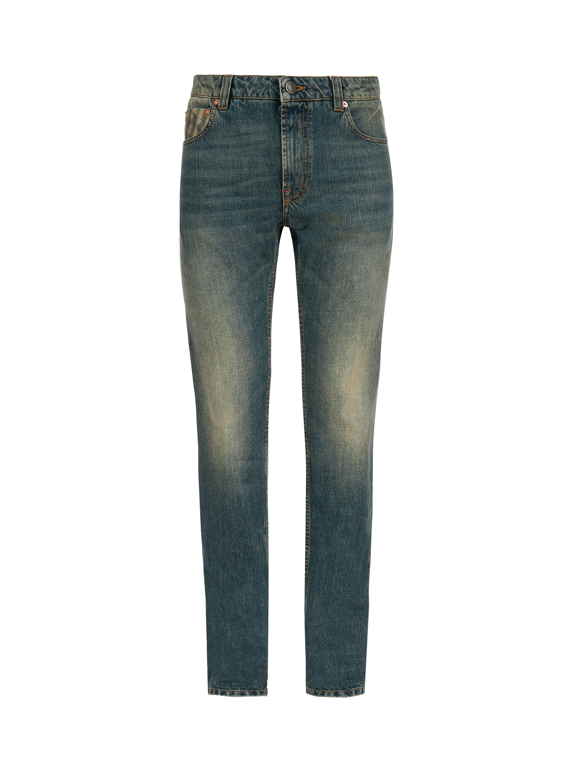 JEANS WITH EMBROIDERED TIGER
