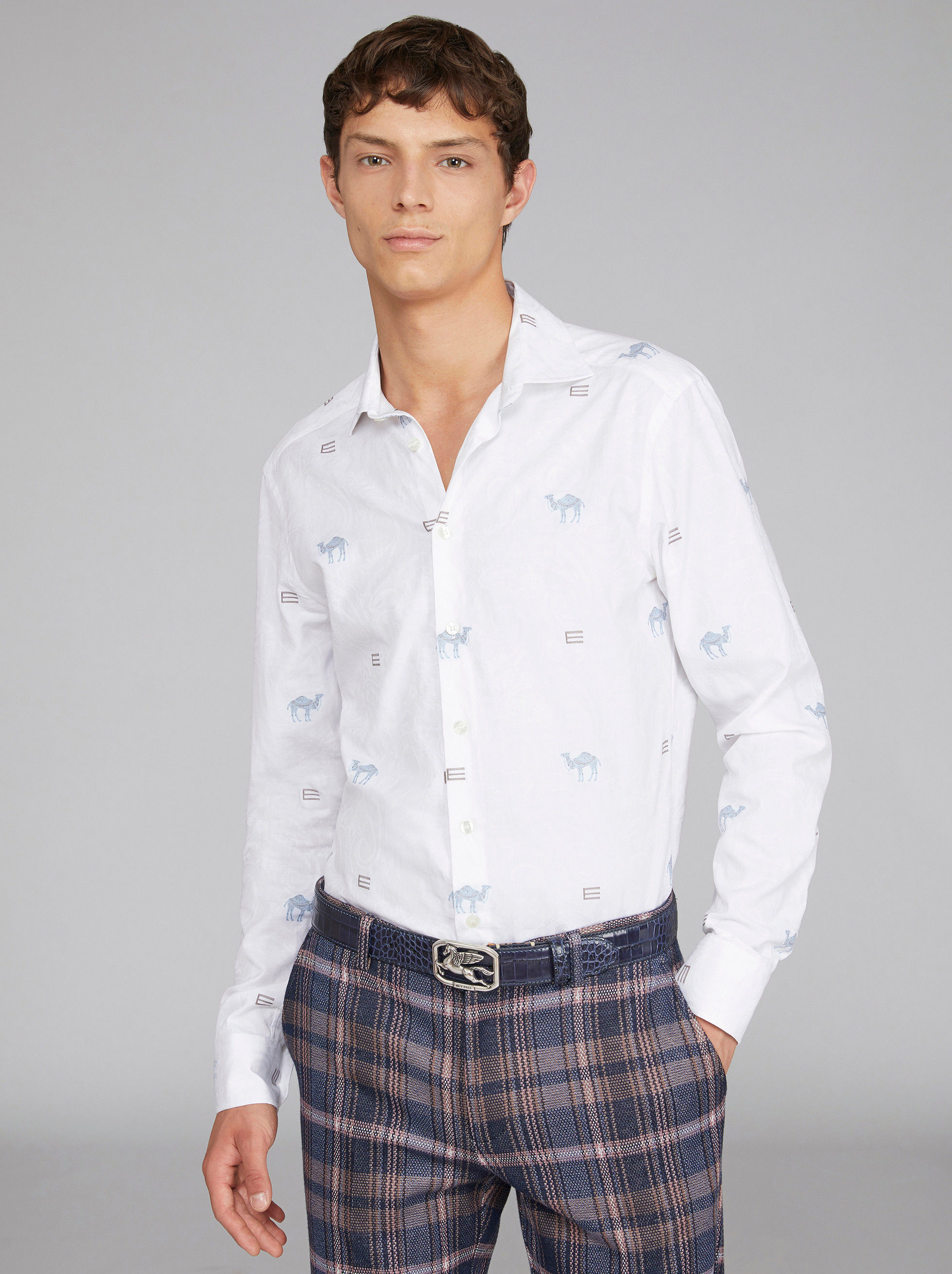 JACQUARD SHIRT WITH LOGO