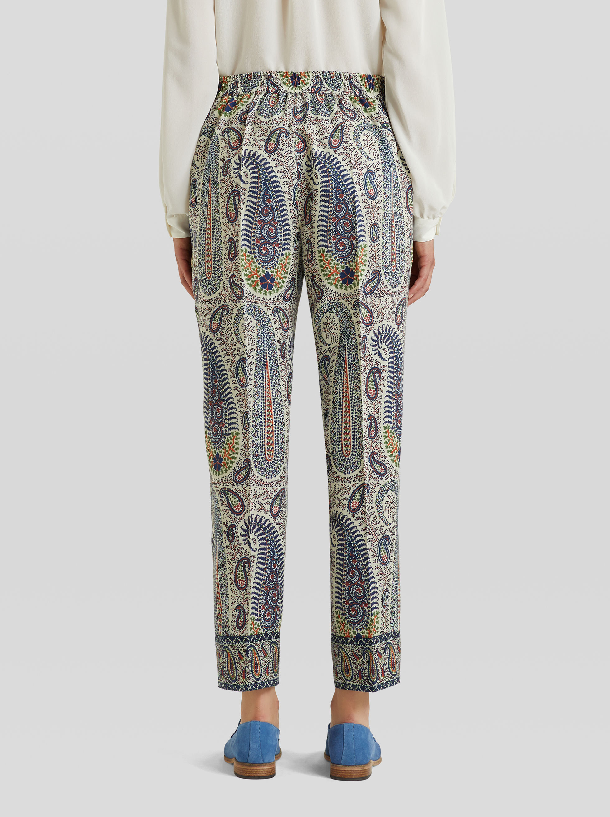 WOOL AND SILK JOGGING TROUSERS
