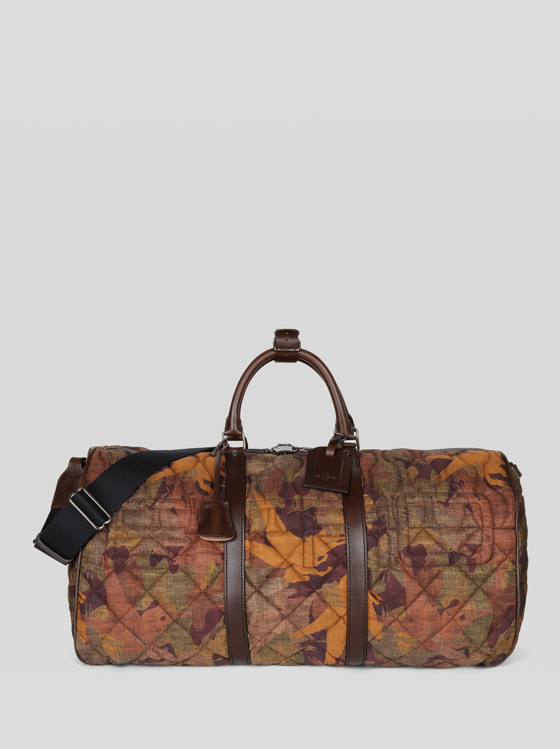PEGASO CAMOUFLAGE MATELASSÉ TRAVEL BAG