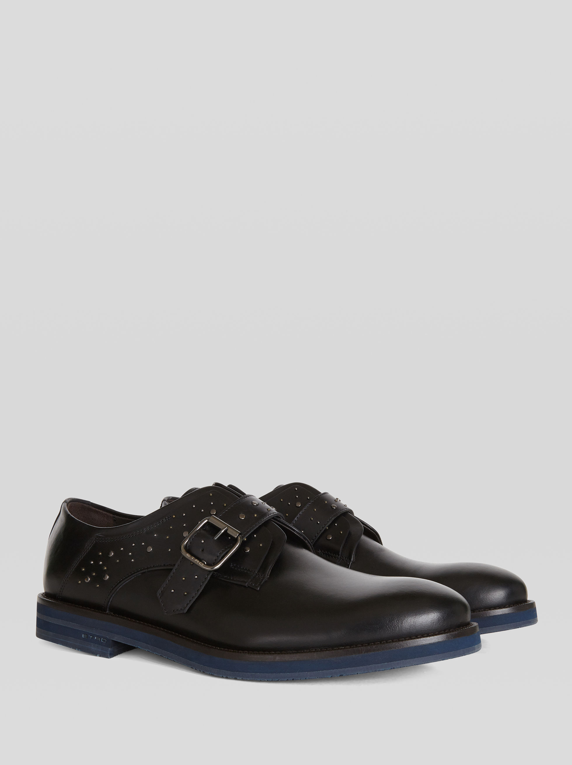 LEATHER MONK STRAPS WITH STUDS