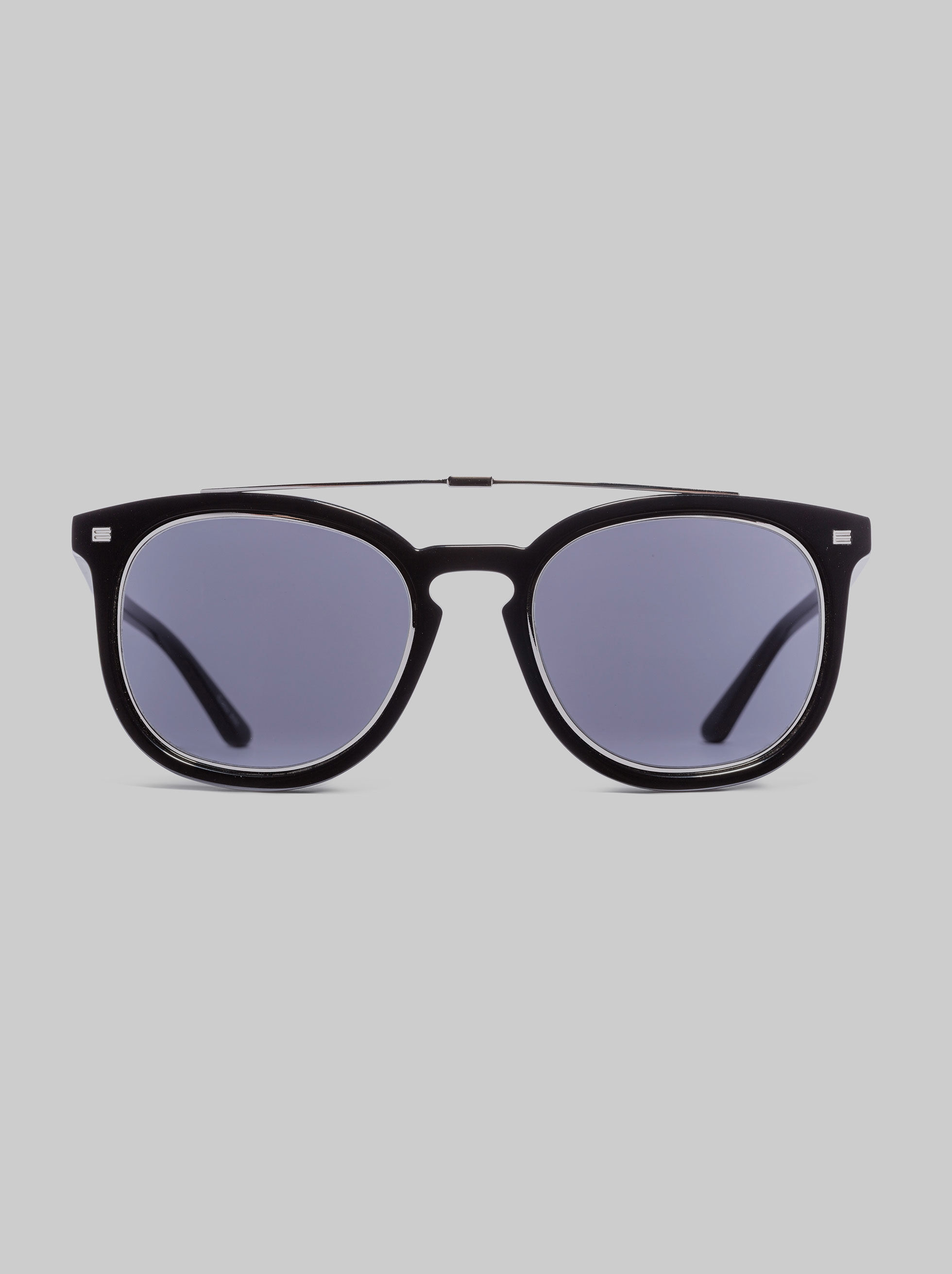 TEA-CUP FRAME SUNGLASSES WITH DOUBLE BRIDGE