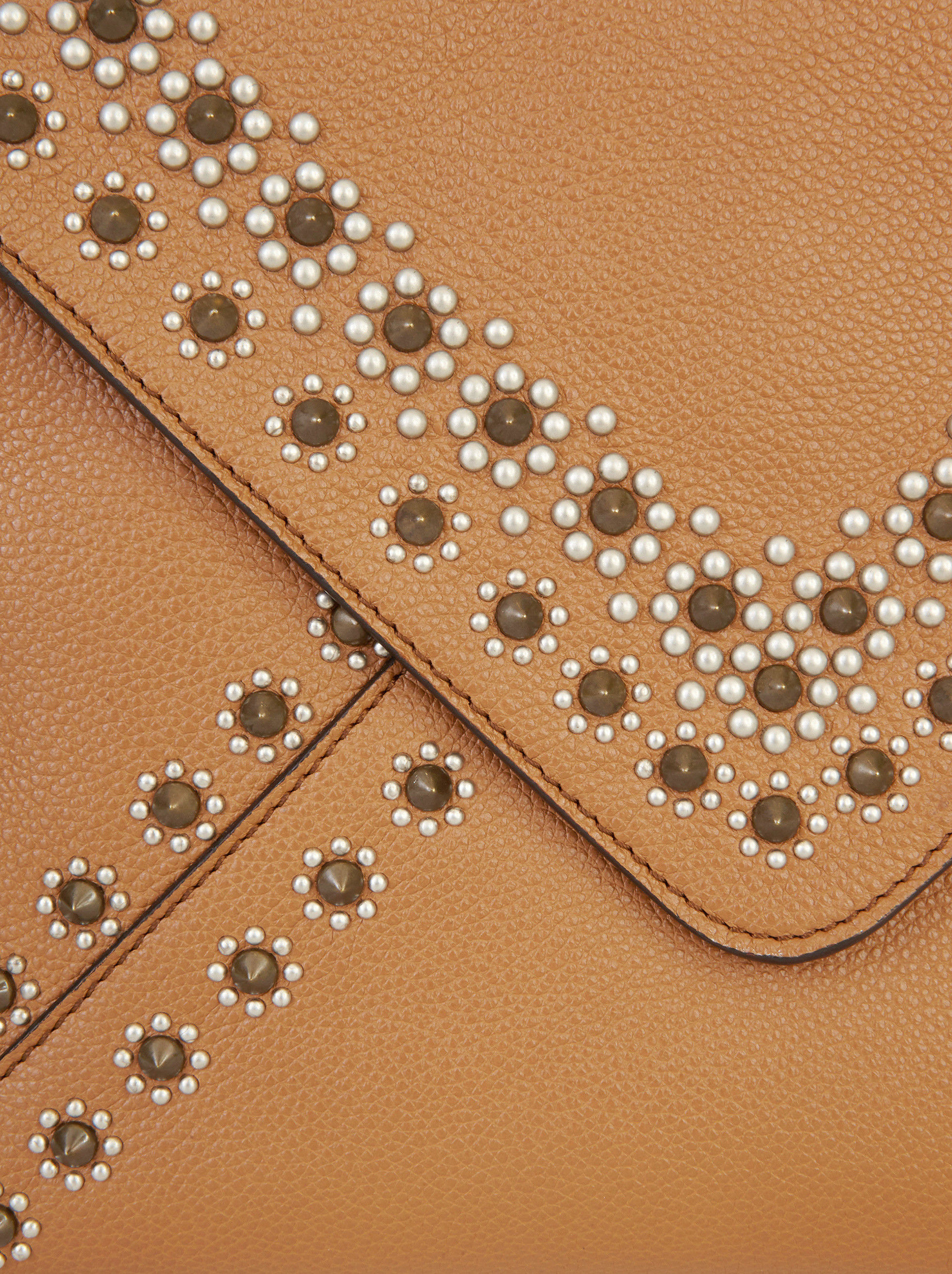 LEATHER GOA BAG WITH STUDS