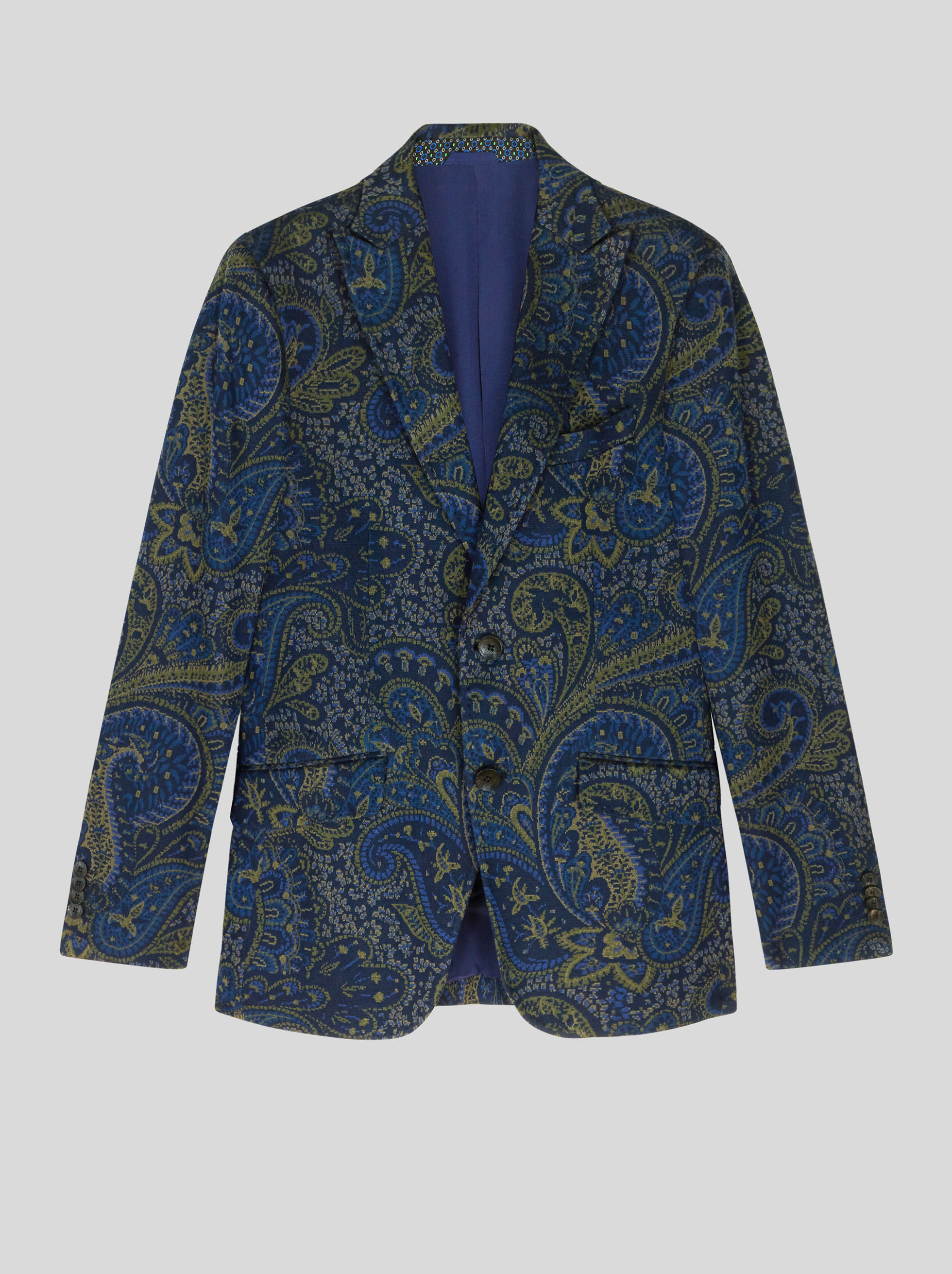 JERSEY JACQUARD JACKET WITH PAISLEY PATTERN