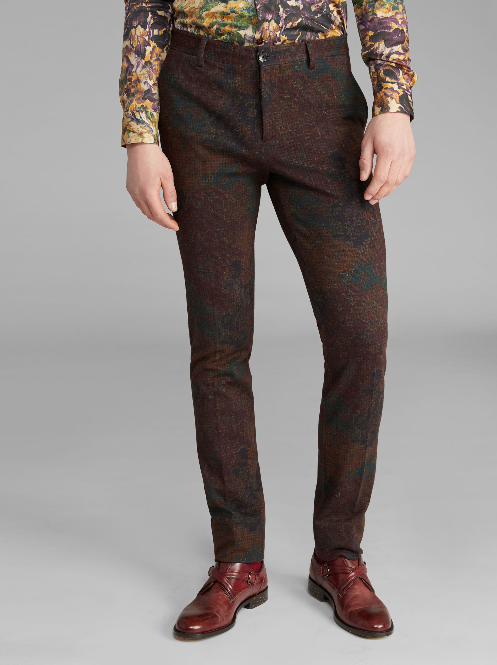 CARPET-PRINT TROUSERS
