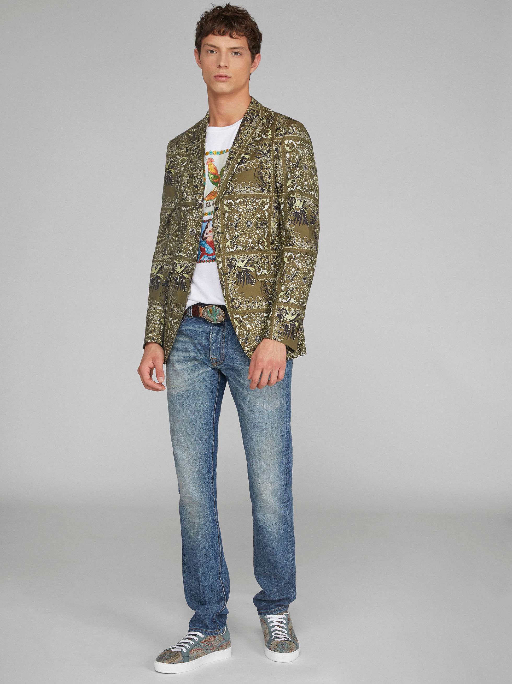 BANDANA PRINT TAILORED JACKET
