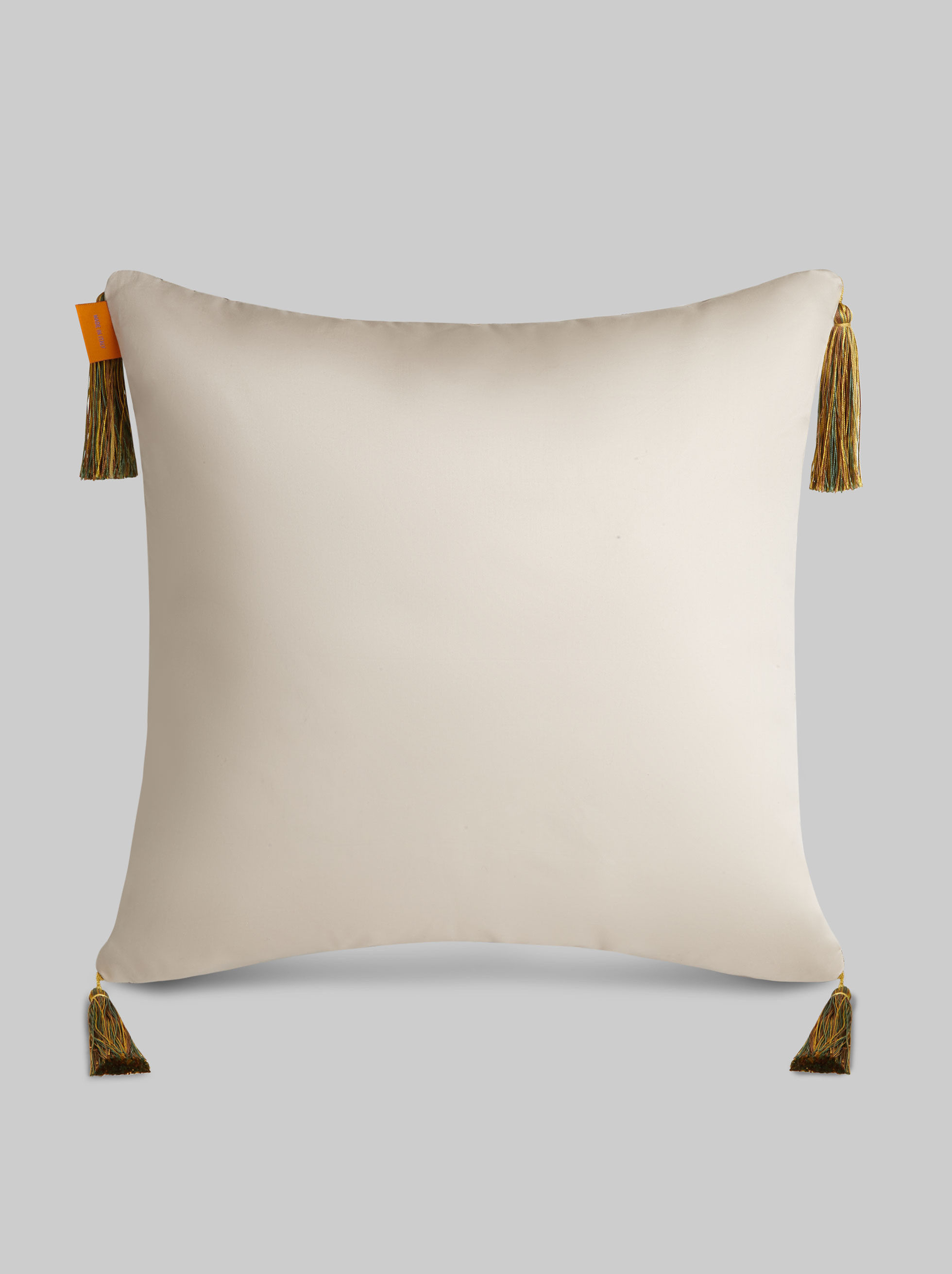 SATIN CUSHION WITH TASSELS