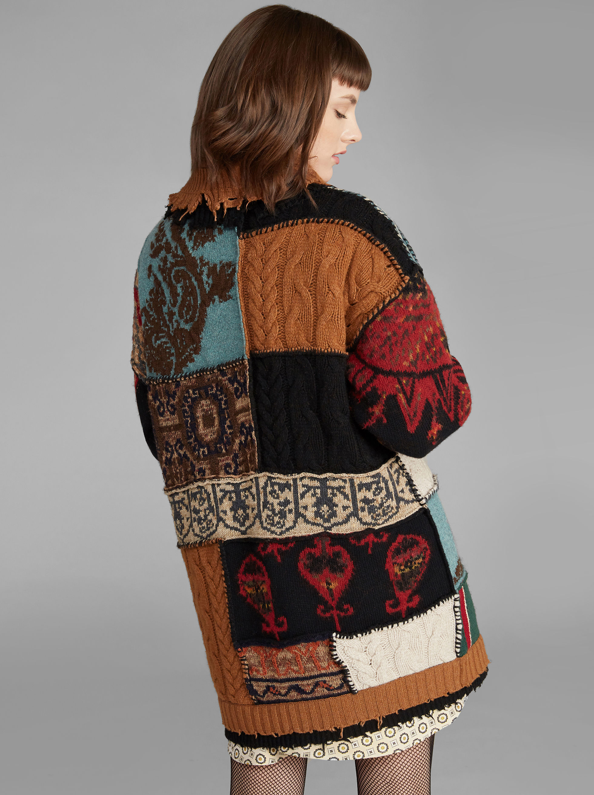 PATCHWORK TURTLENECK JUMPER