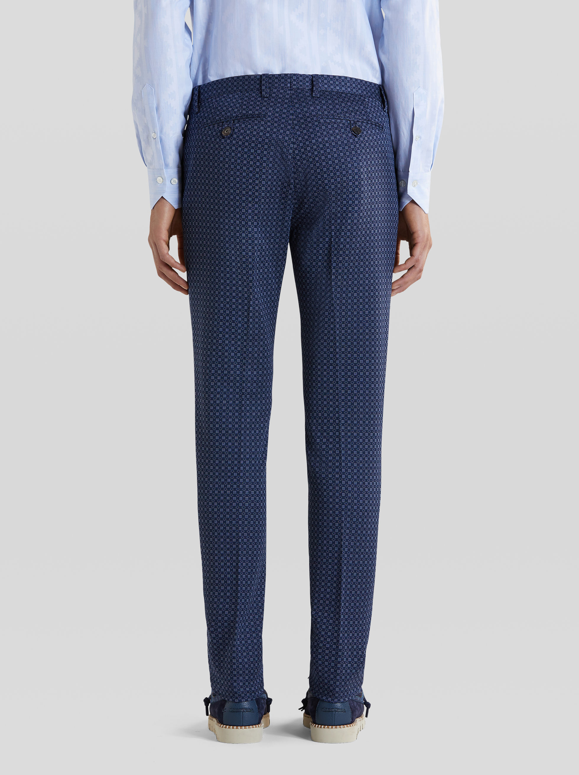 JERSEY TROUSERS WITH TIE-PRINT PATTERN