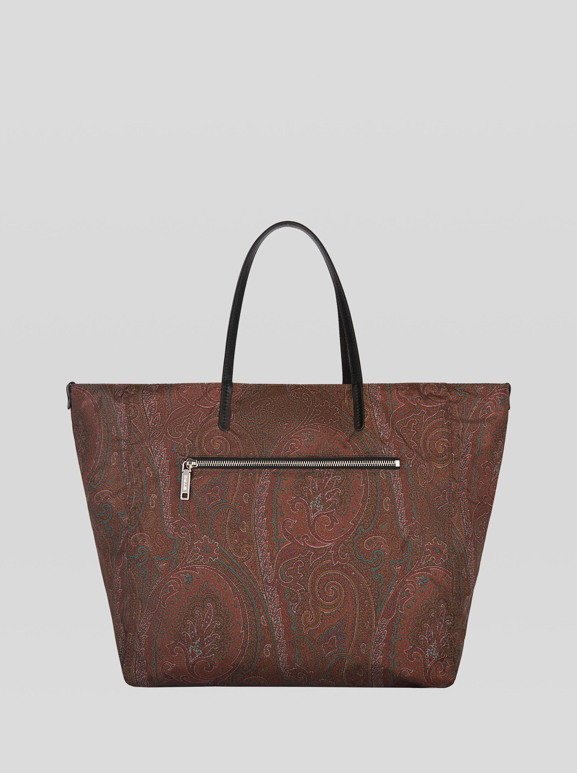 DOUBLE-SIDED PAISLEY-PRINT TOTE BAG