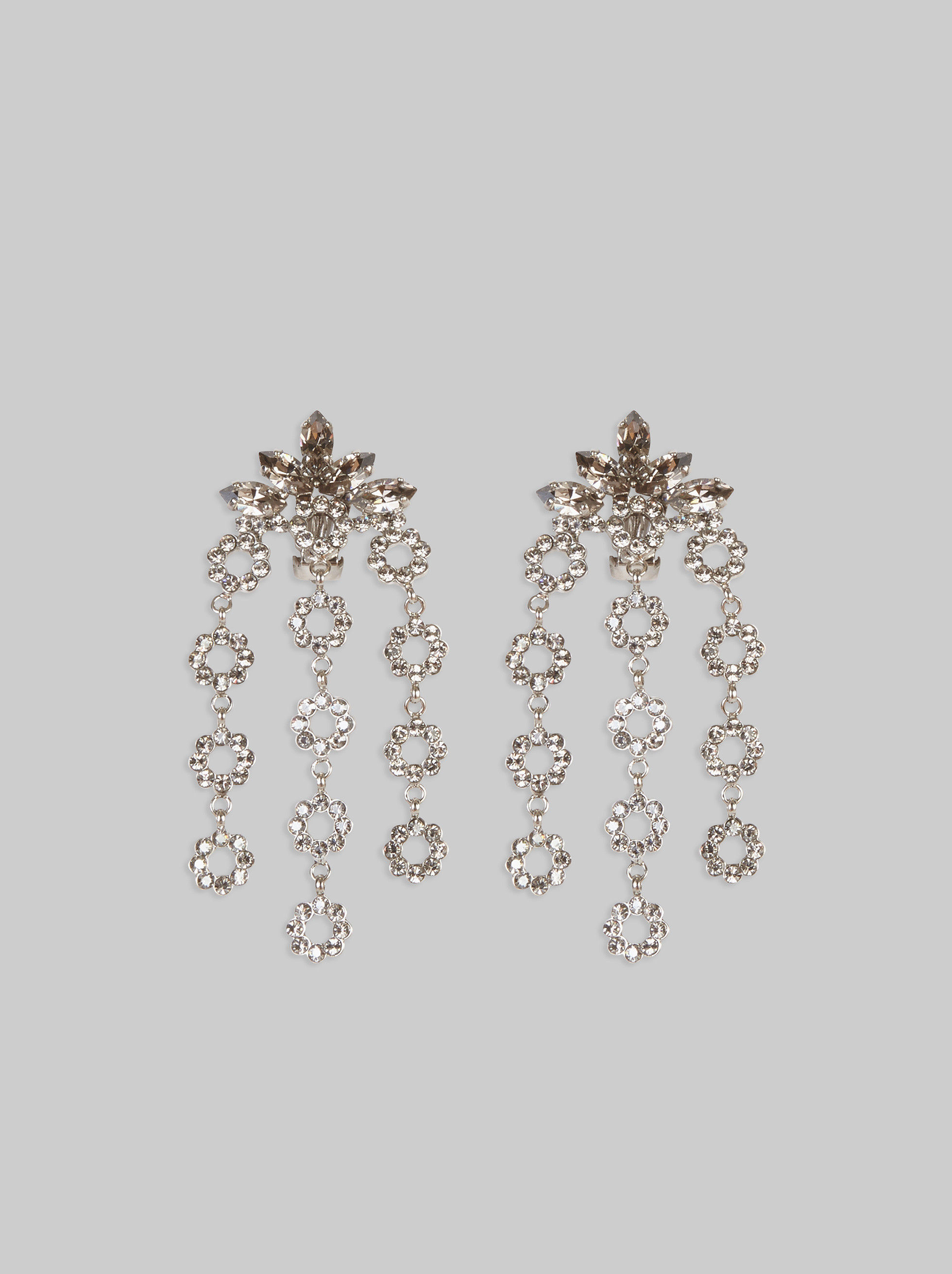 CHANDELIER EARRINGS WITH RHINESTONES