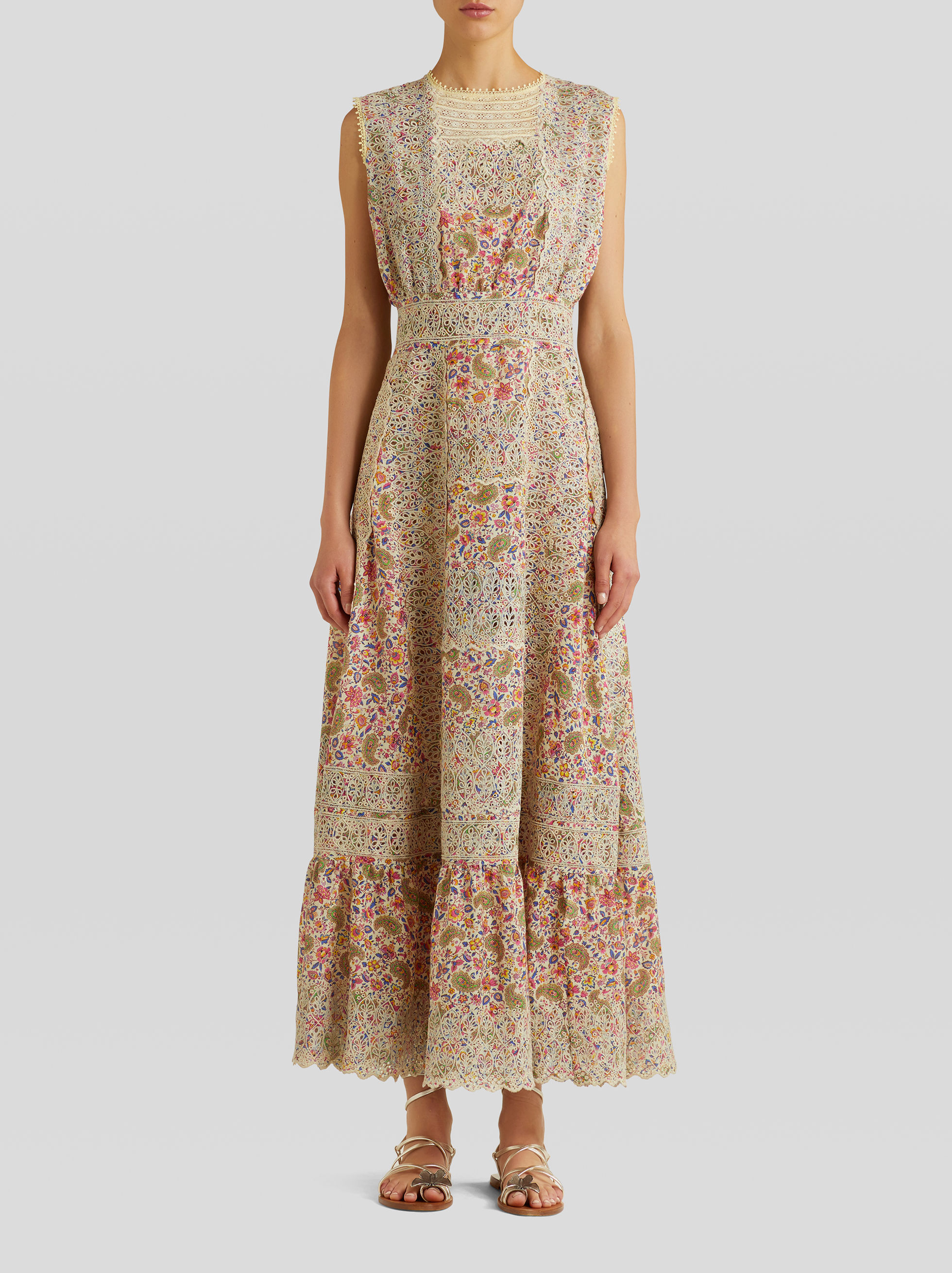 EMBROIDERED PAISLEY DRESS