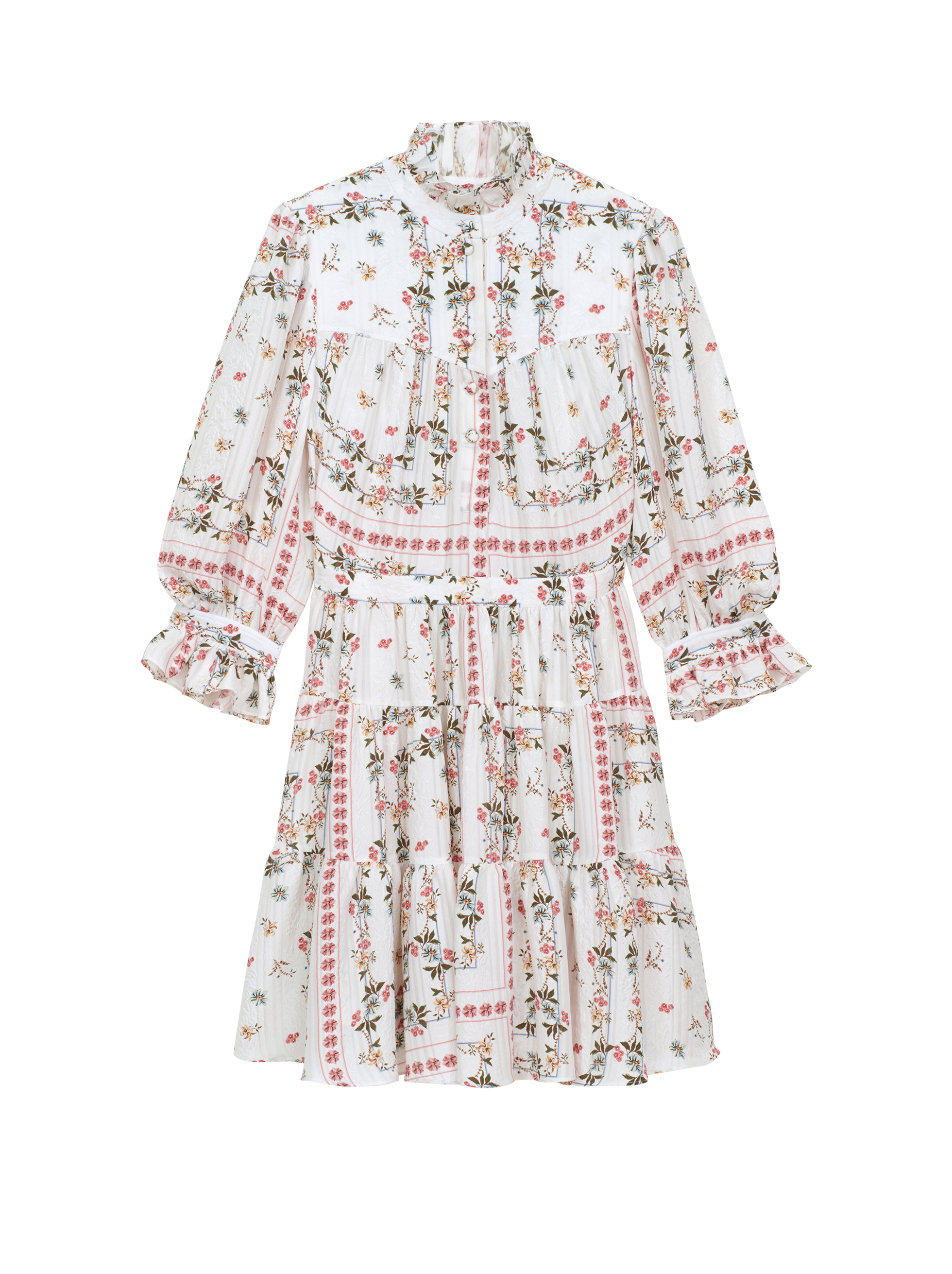 FLORAL DESIGN CRÊPE DE CHINE DRESS