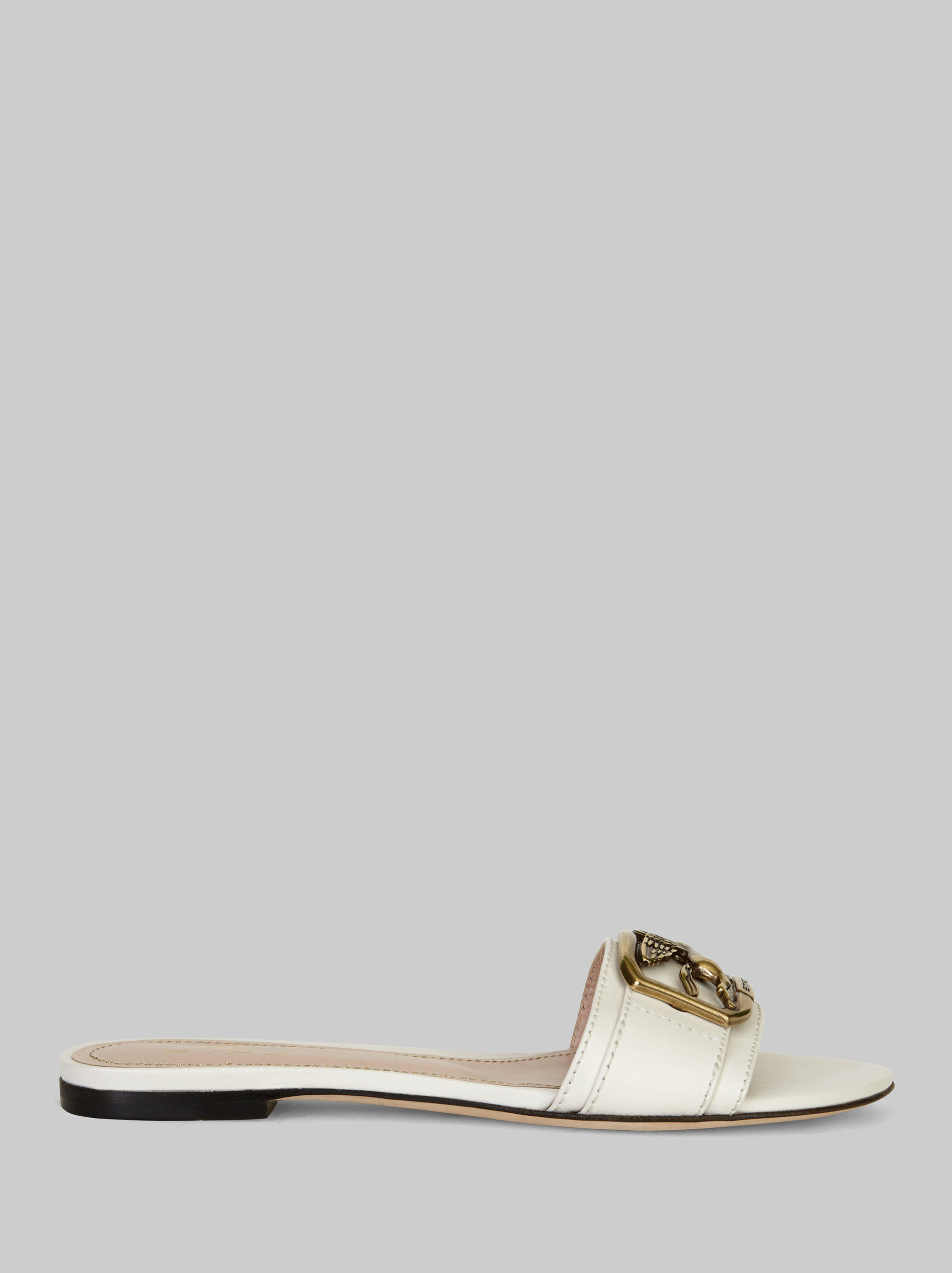 FLAT LEATHER PEGASO SANDALS