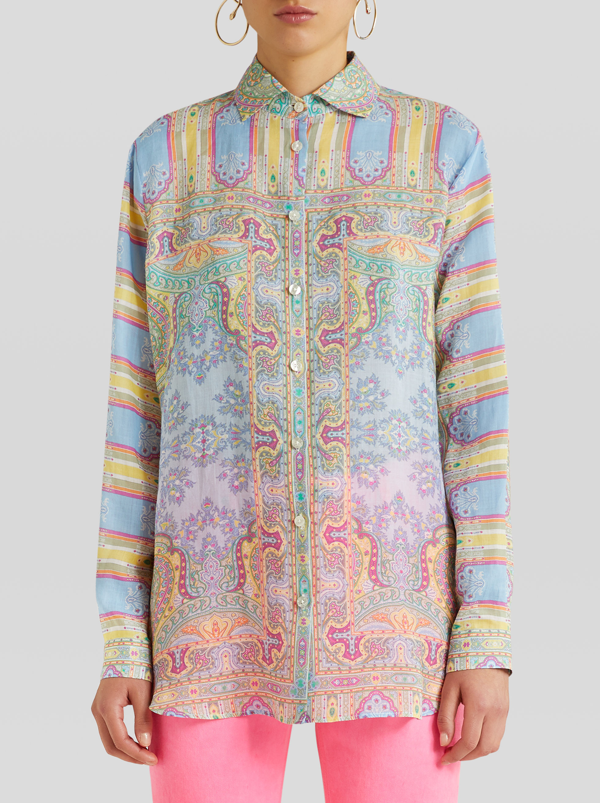 ORNAMENTAL PAISLEY PRINT SHIRT