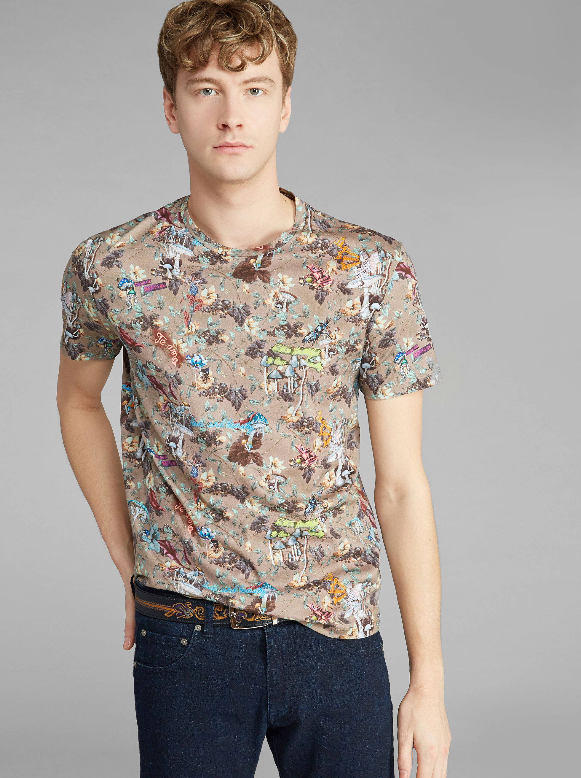 T-SHIRT STAMPA FLOREALE