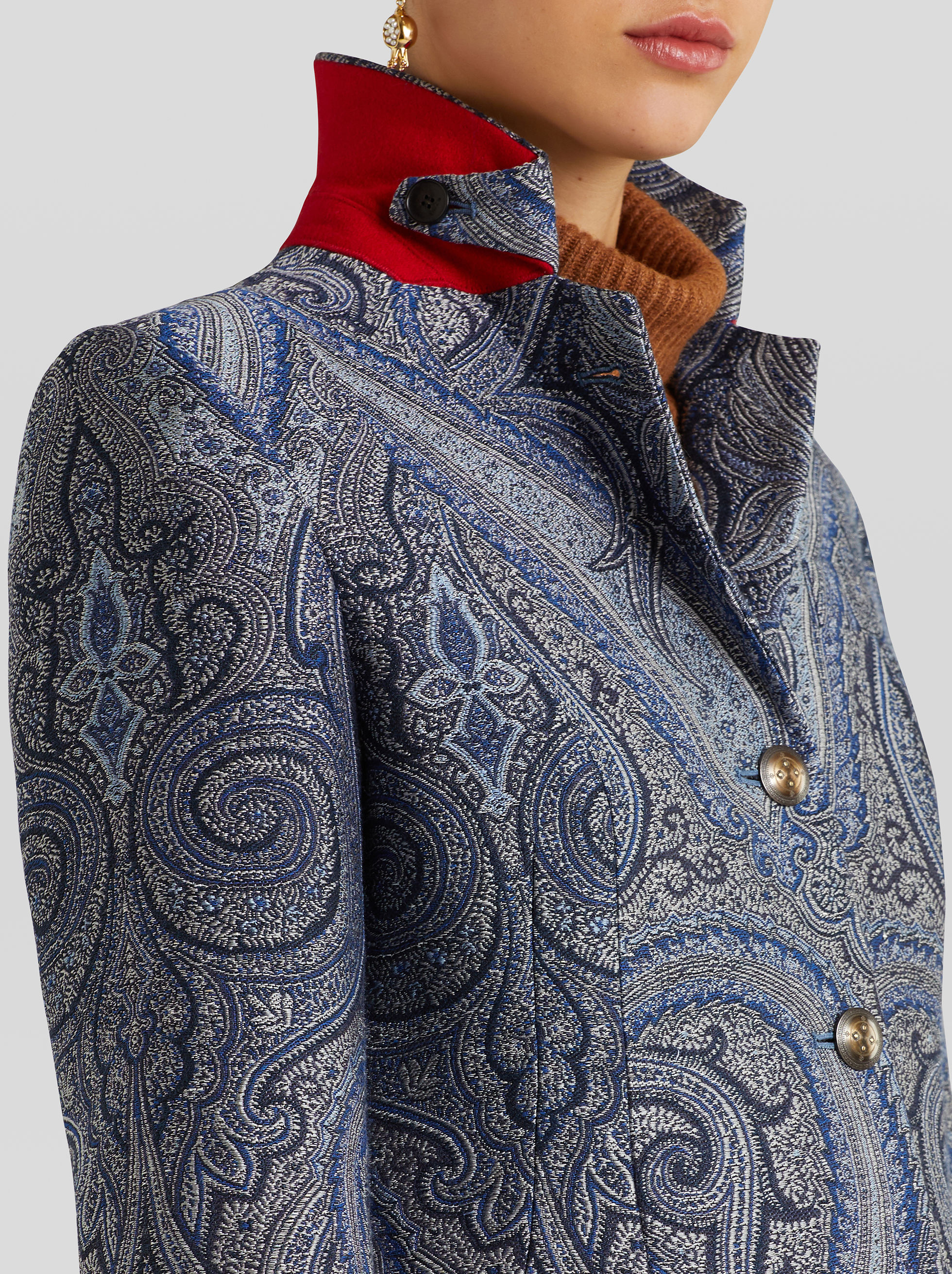 PAISLEY JACQUARD TAILORED JACKET