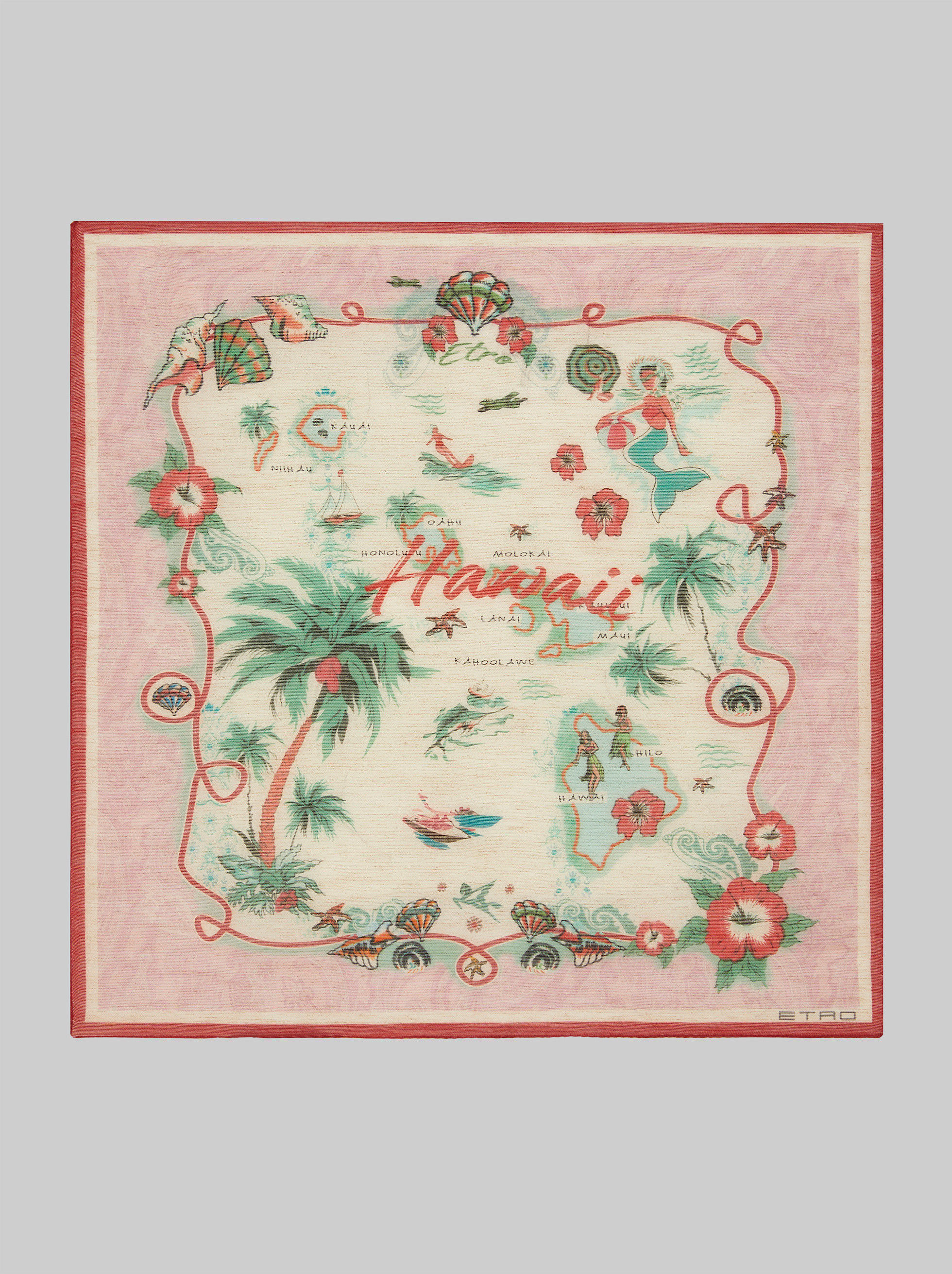 HAWAII PRINT POCKET SQUARE