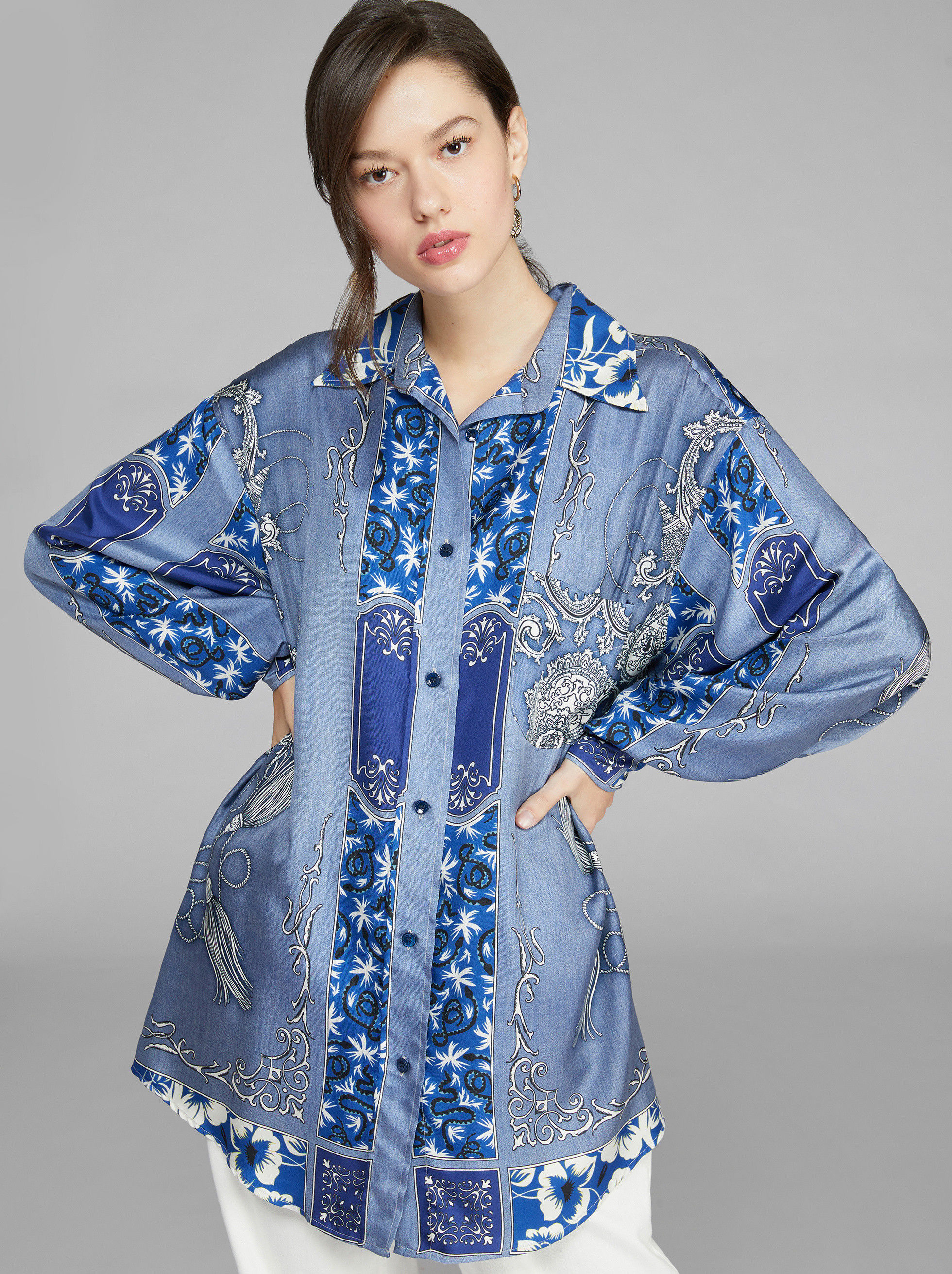BANDANA PATTERN SILK SHIRT