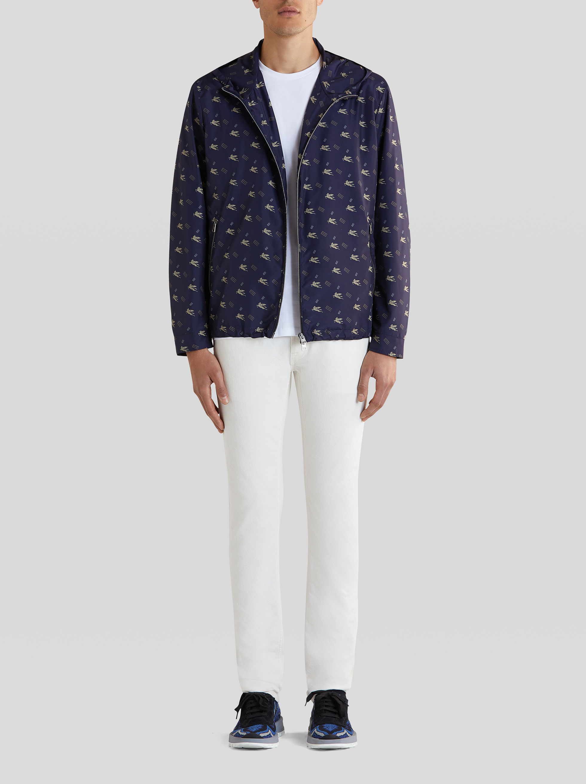 PACKABLE PEGASO PRINT JACKET