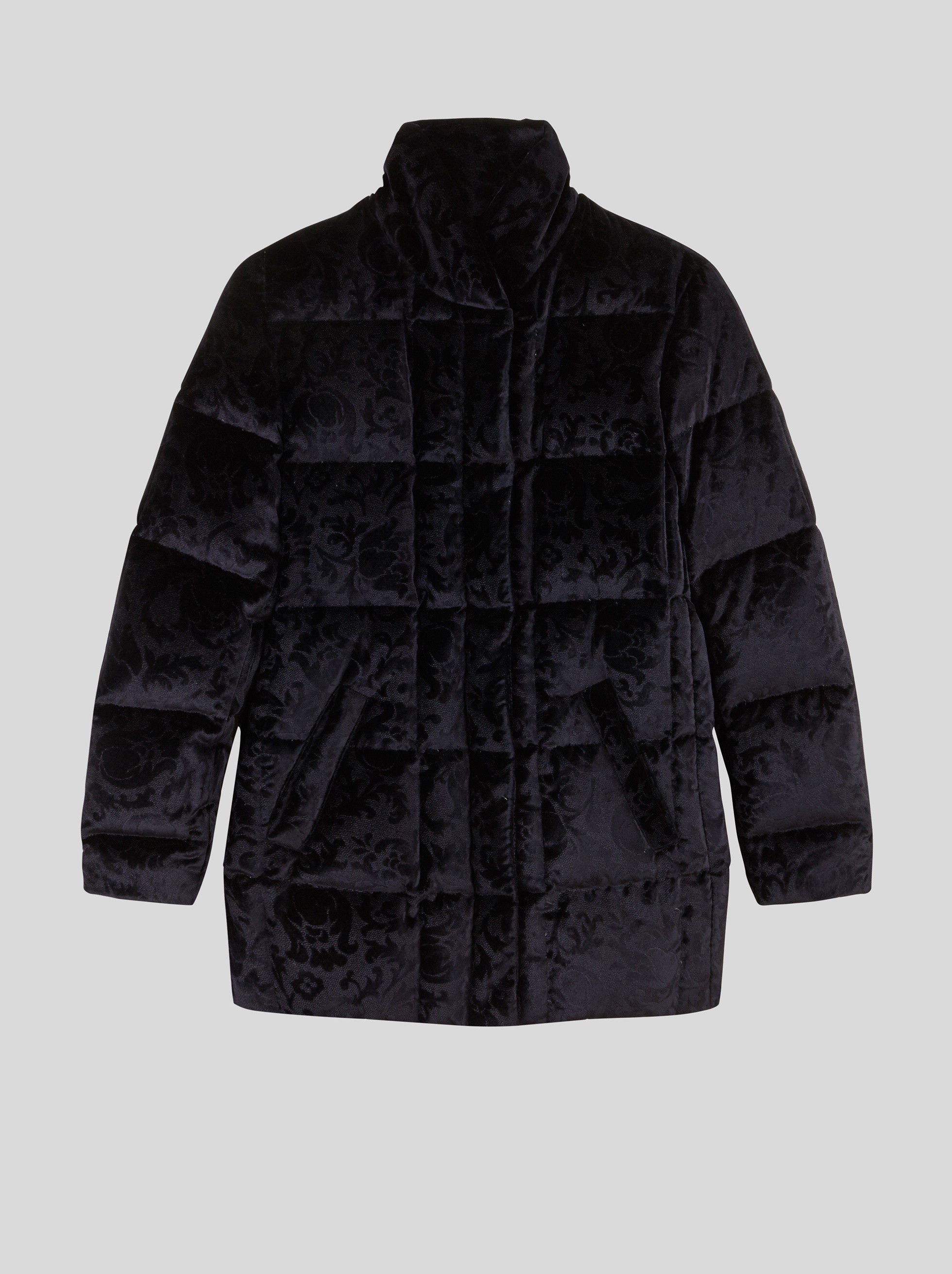 PAISLEY PATTERN VELVET DOWN JACKET