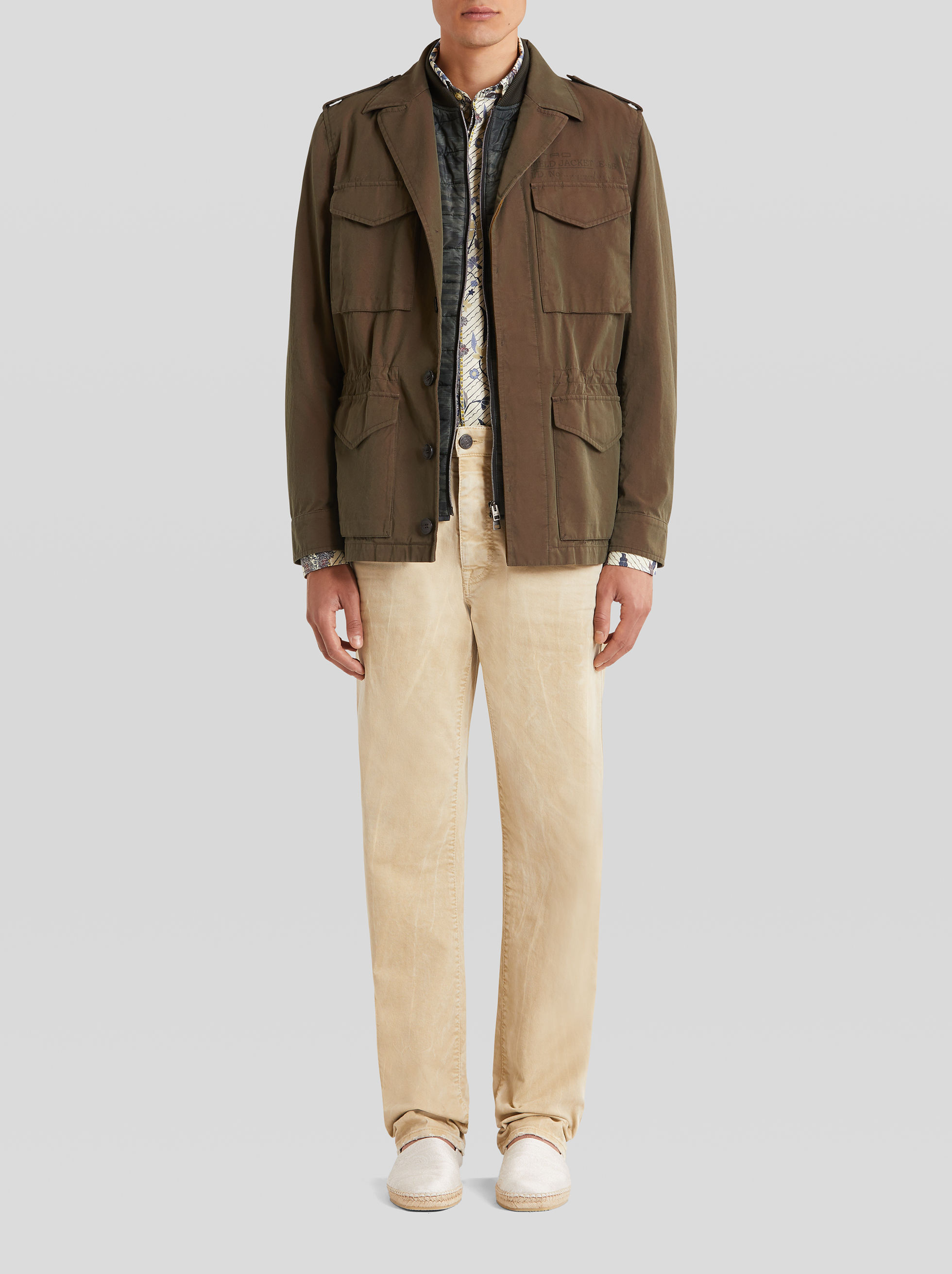 SAFARI JACKET WITH INTERNAL WAISTCOAT
