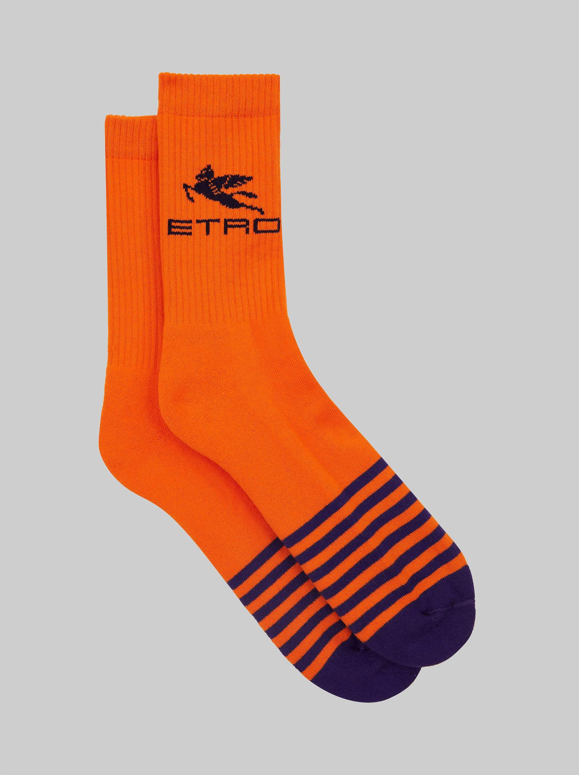 STRIPED TERRY SOCKS WITH PEGASO