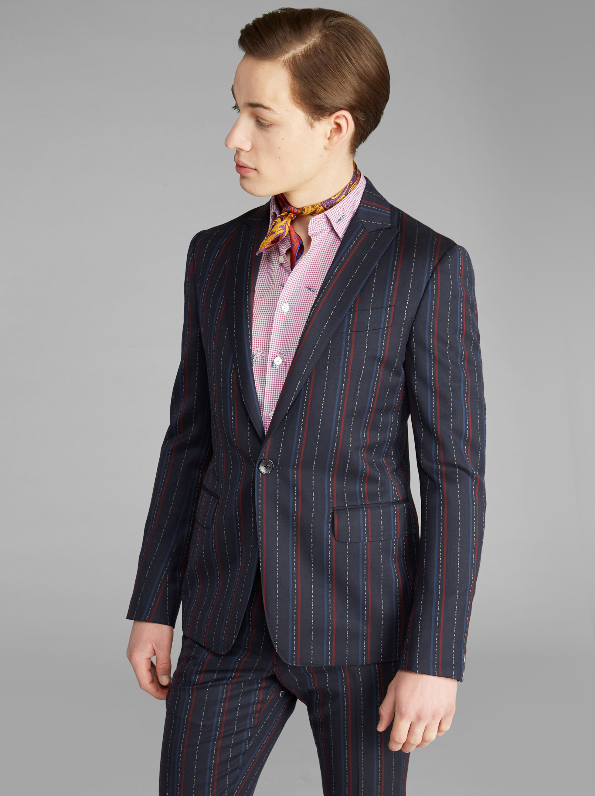 JACQUARD CANVASSED SUIT