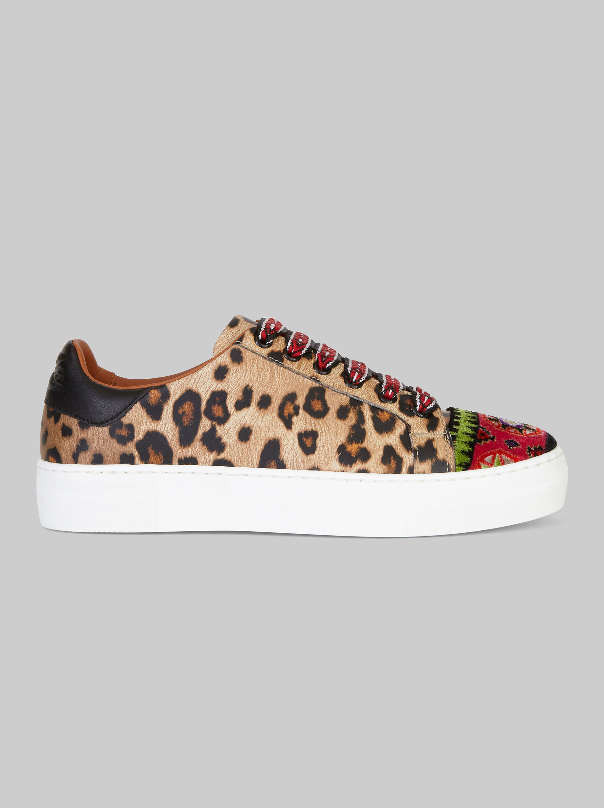 ANIMAL-PRINT SNEAKERS WITH EMBROIDERY