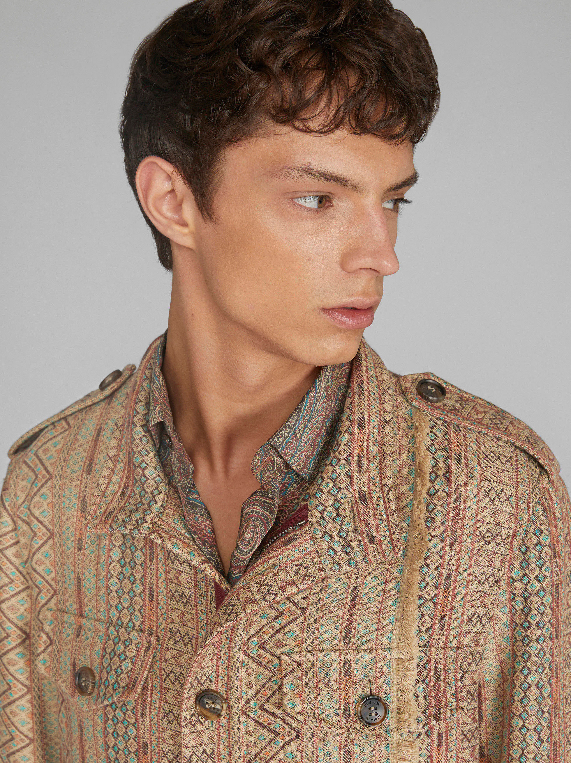 GEOMETRIC JACQUARD FIELD JACKET