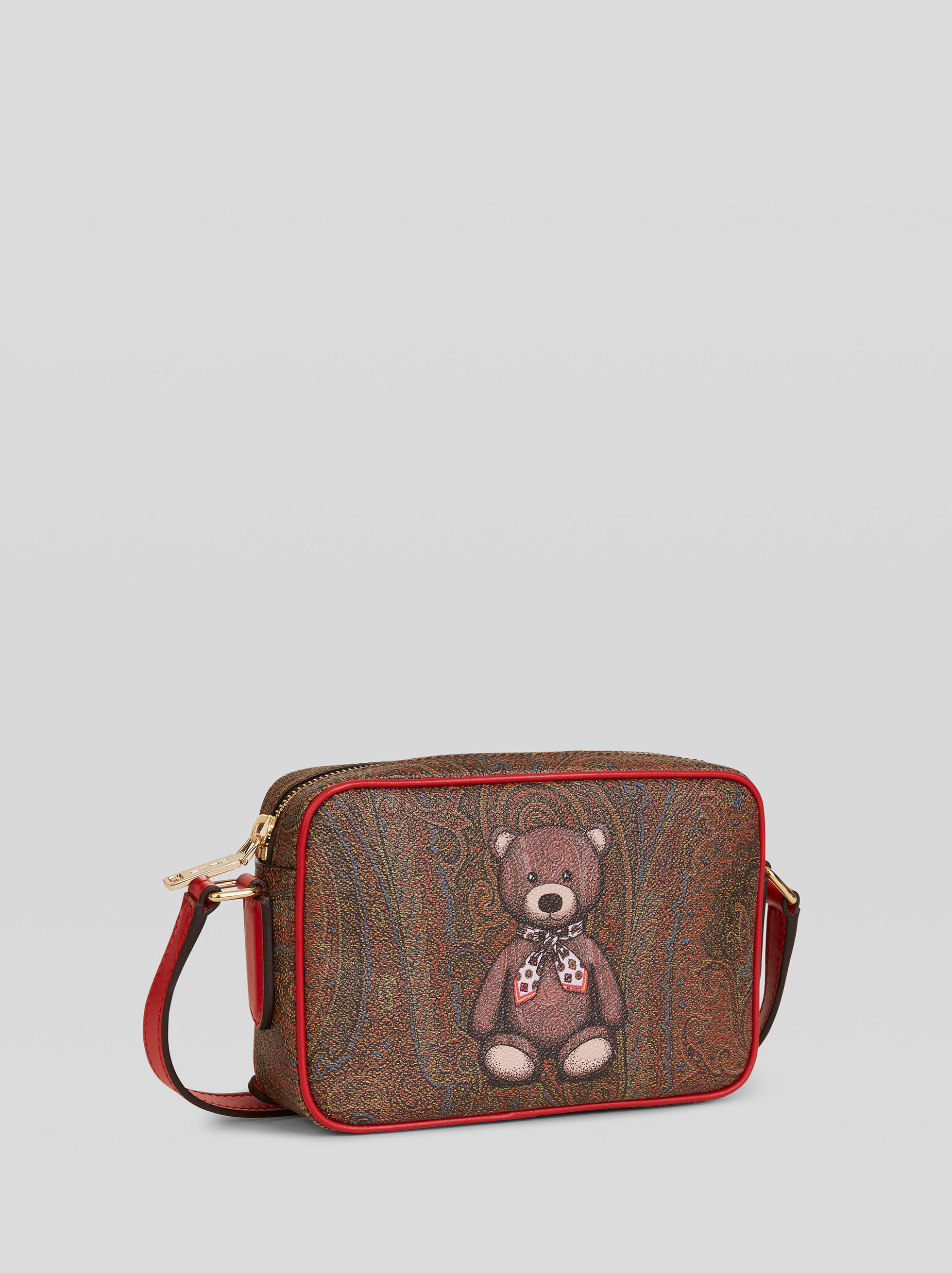 PAISLEY WITH TEDDY BEAR SHOULDER BAG