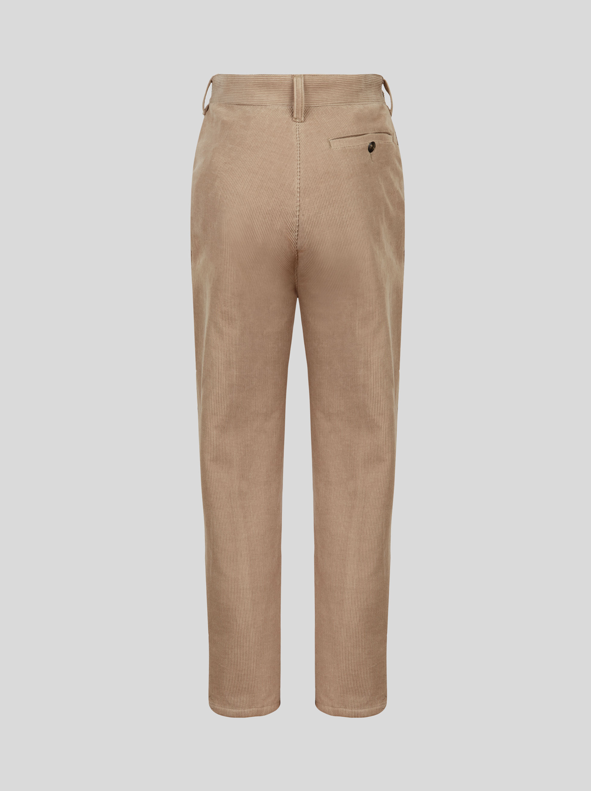 RIBBED VELVET CARGO TROUSERS