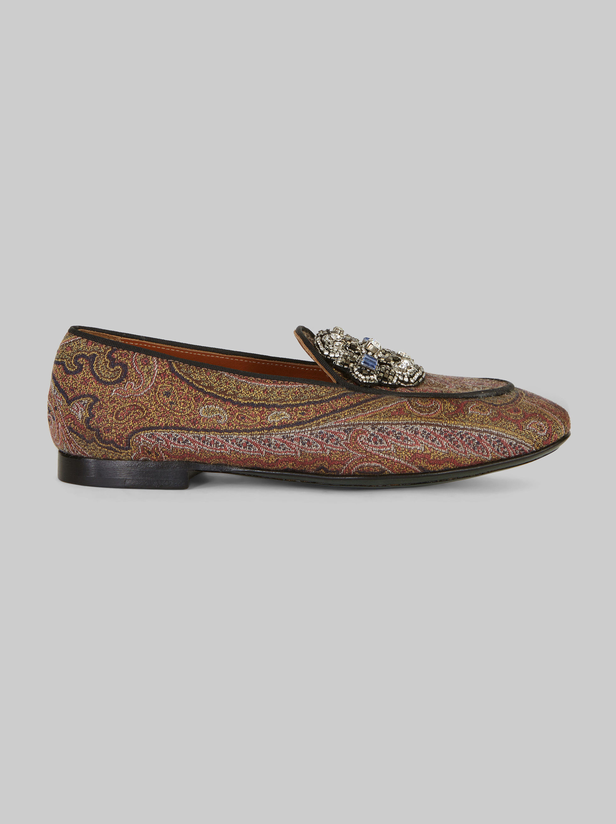 JACQUARD LOAFERS WITH EMBROIDERY