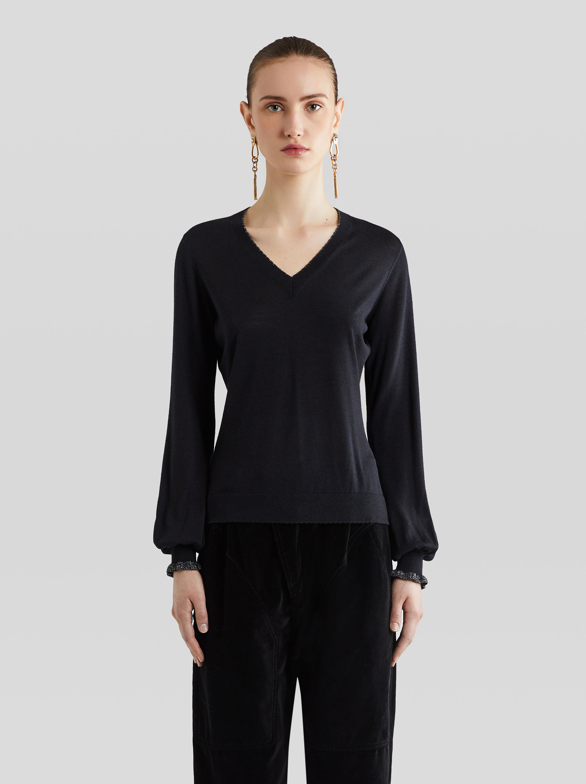 WOOL AND SILK JUMPER