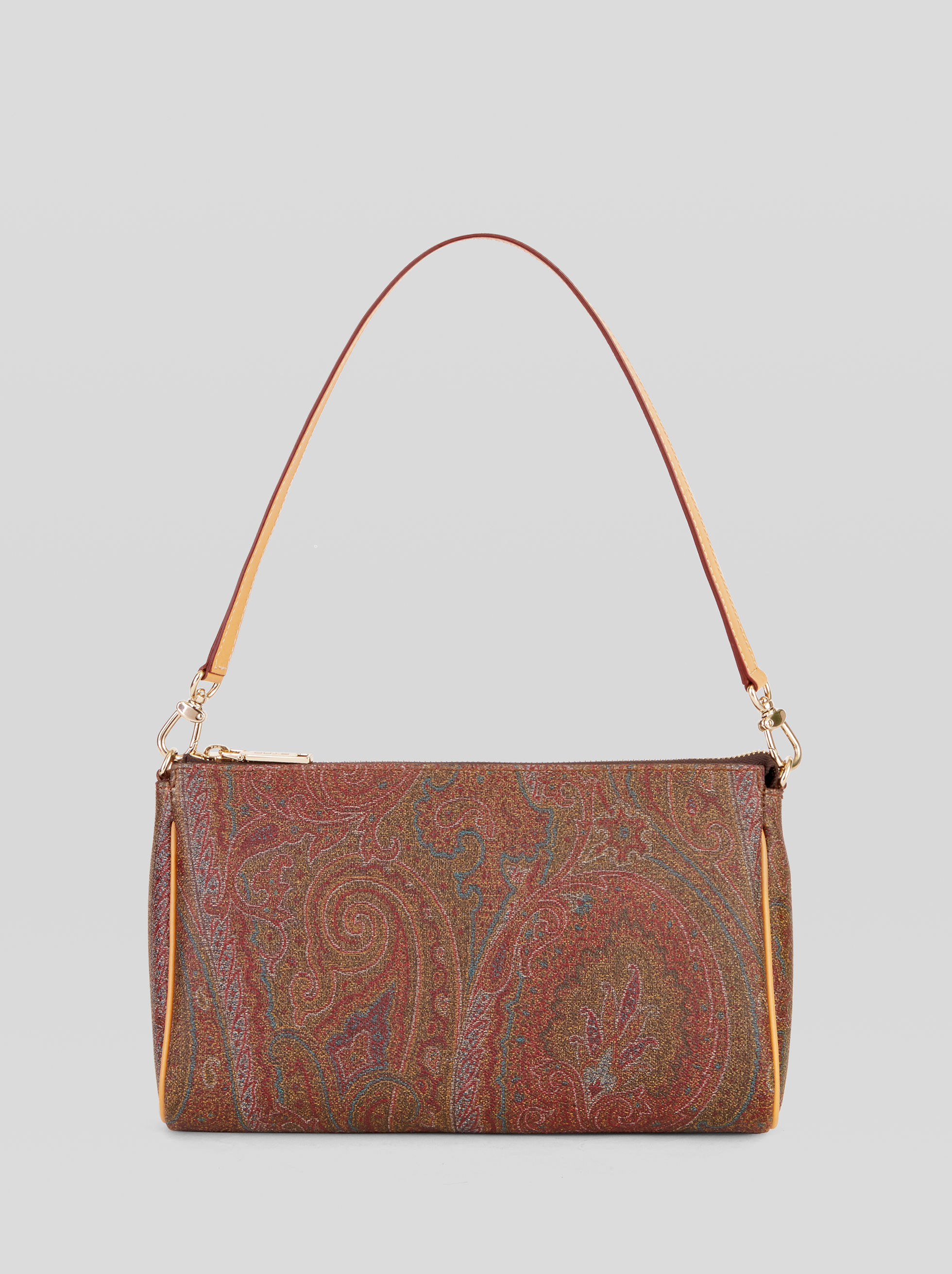 PAISLEY MINI BAG WITH LEATHER DETAILS