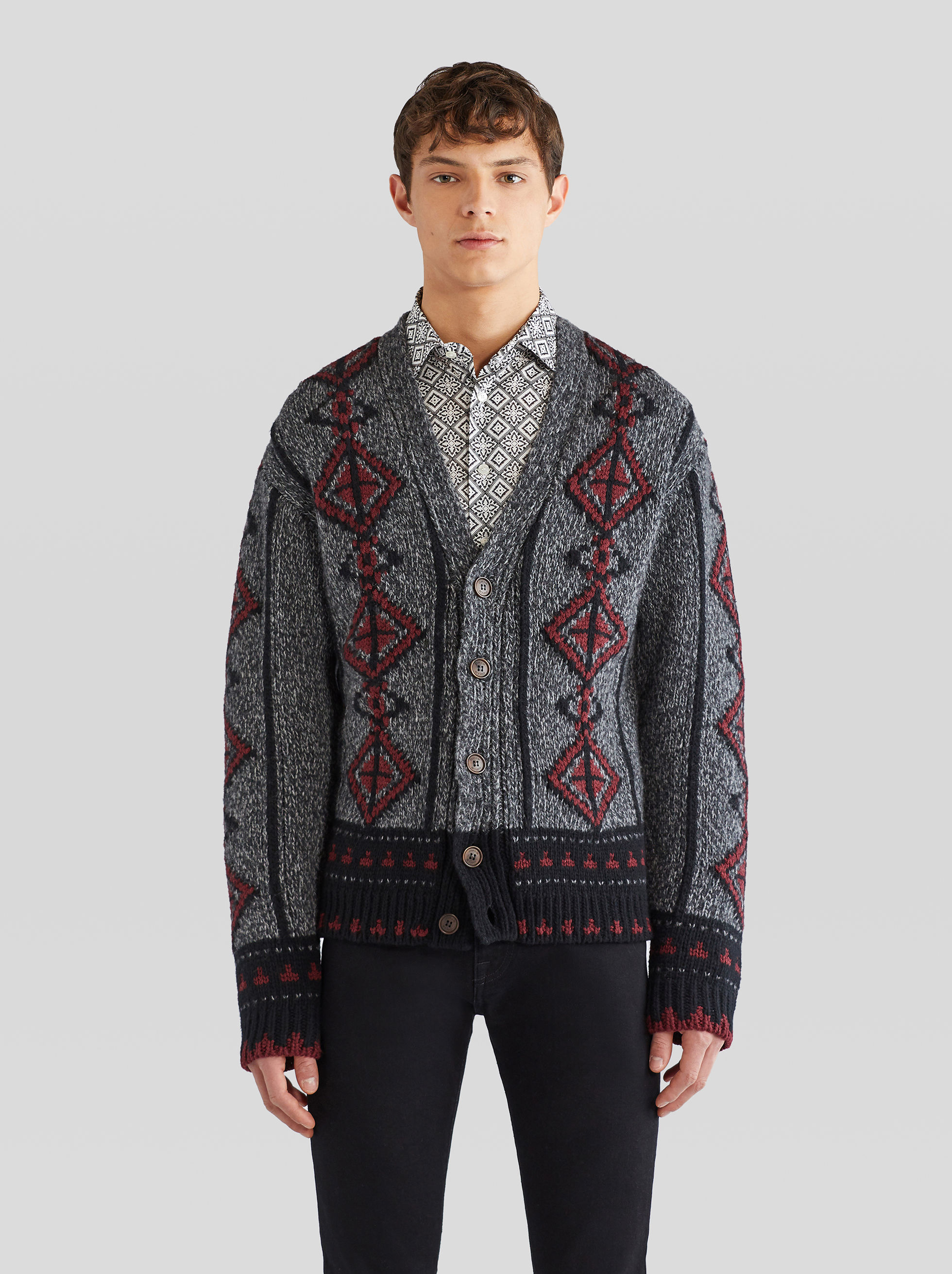 CARDIGAN WITH INLAYS