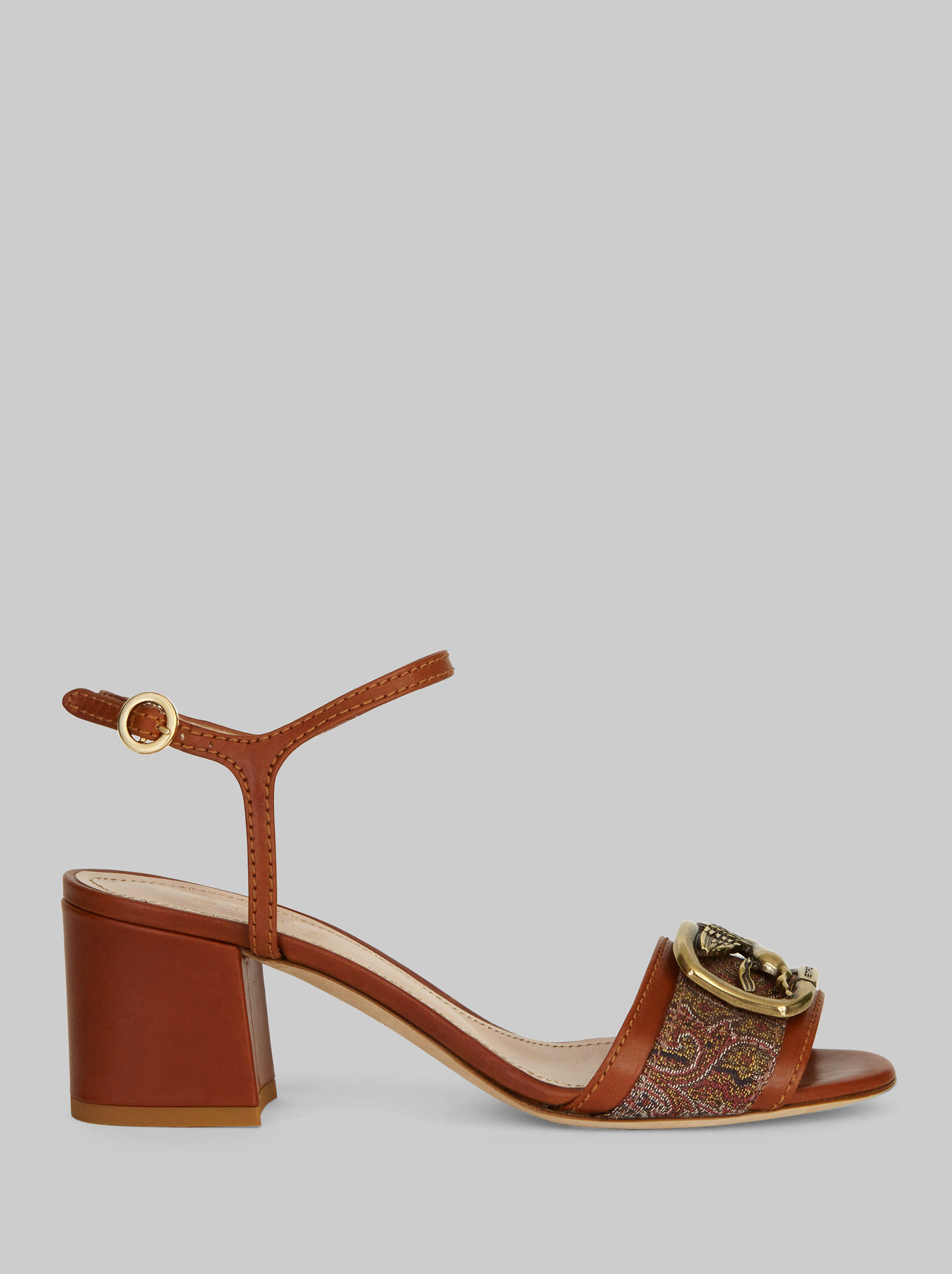 PEGASO SANDALS WITH PAISLEY PATTERNS