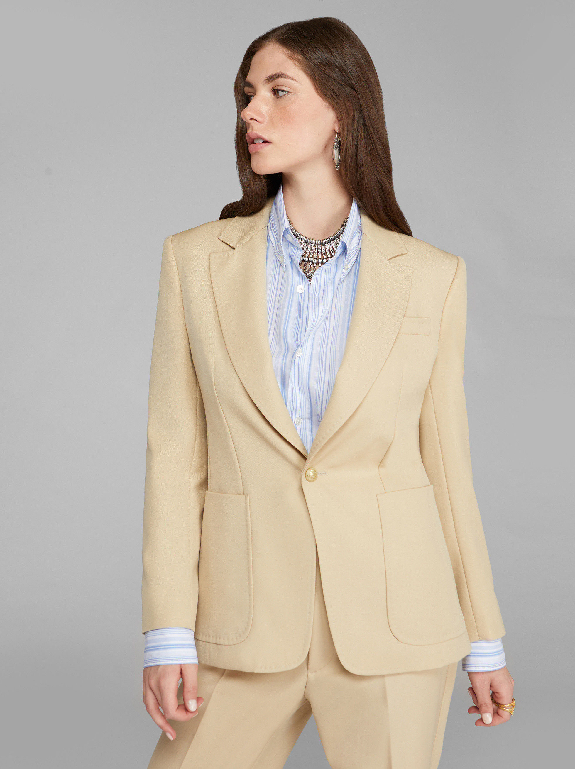 TAILORED JACKET WITH PEGASO BUTTONS