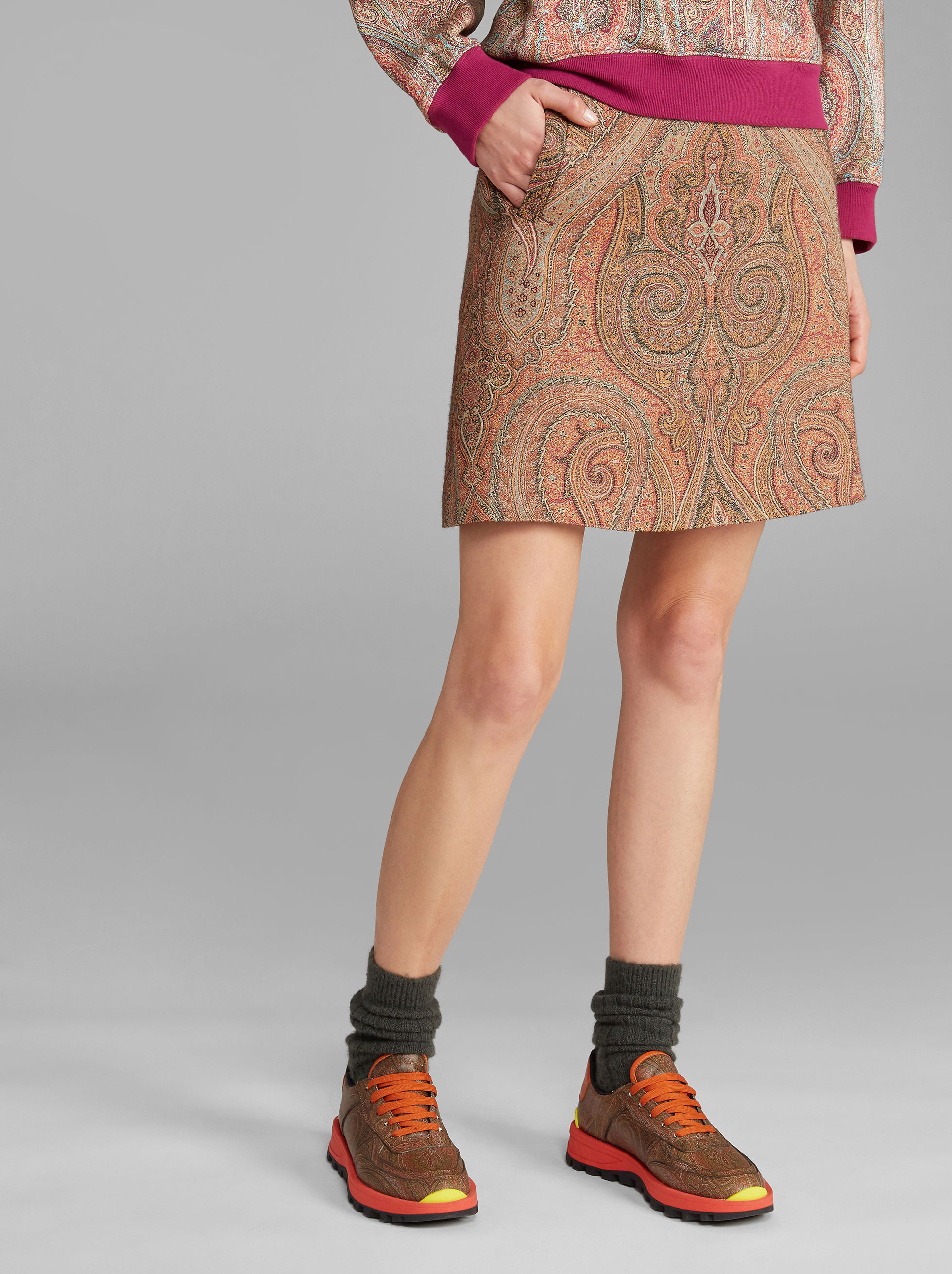MINI GONNA PAISLEY JACQUARD