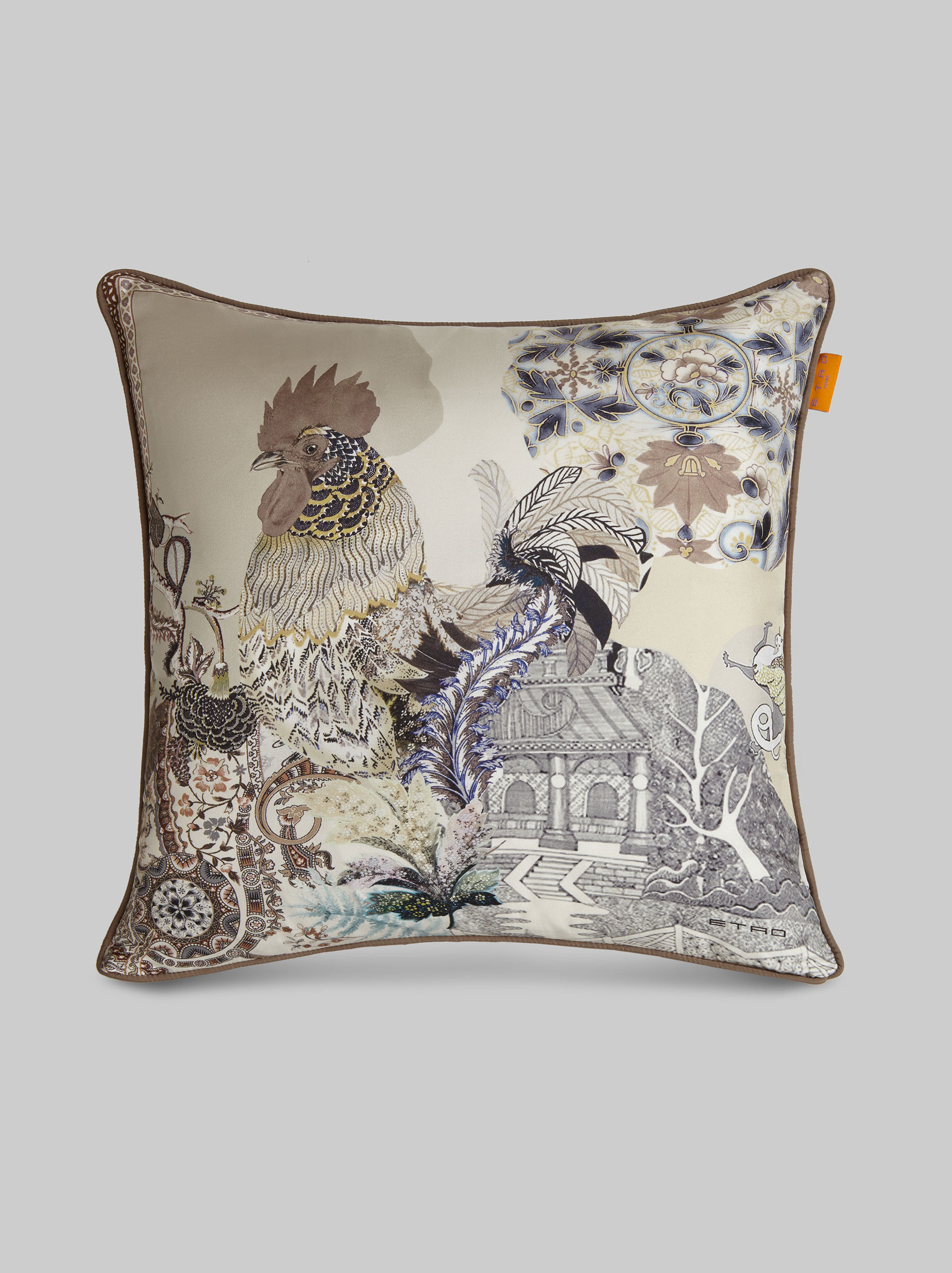 PRINTED SILK CUSHION