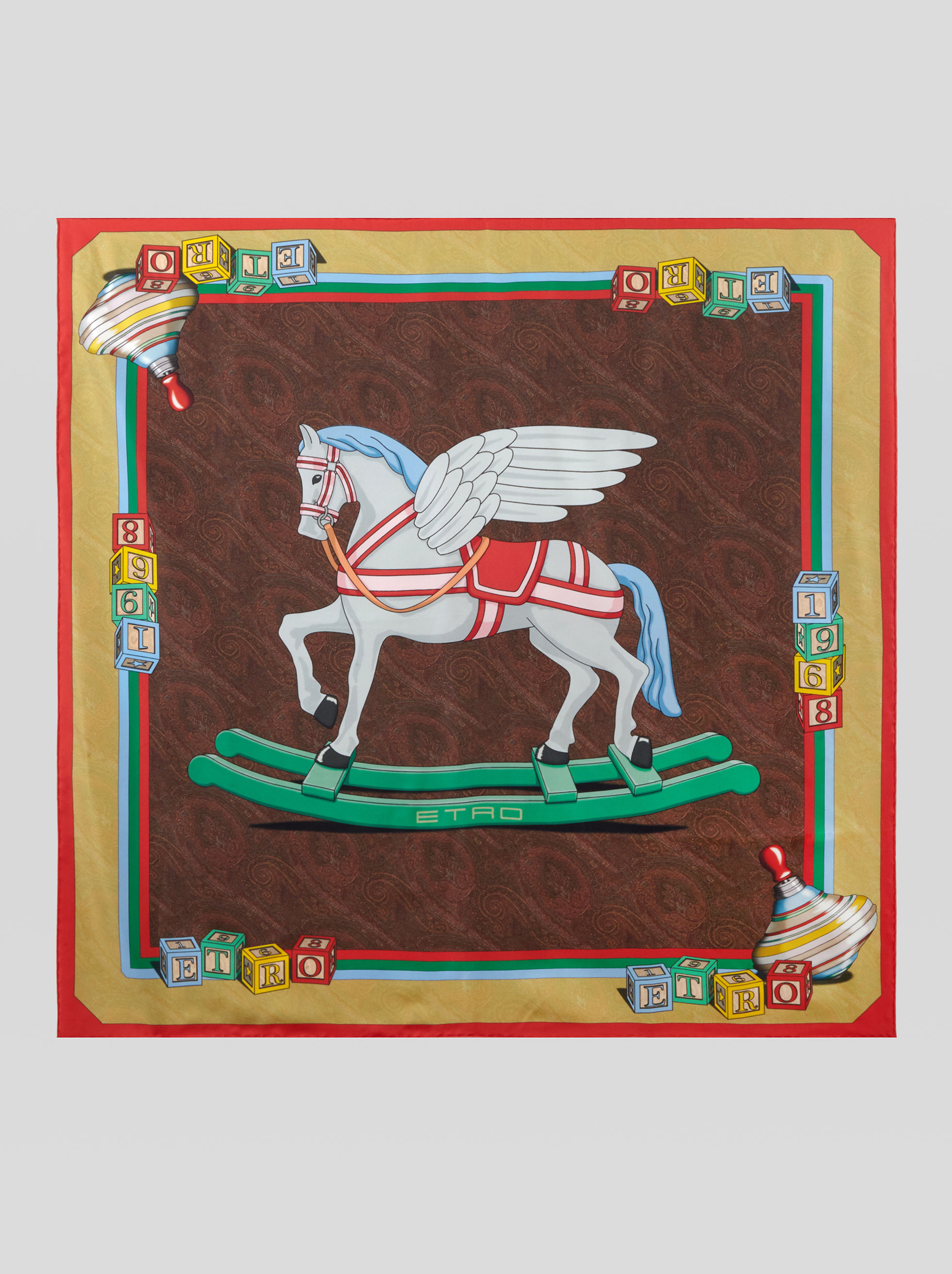SILK SCARF WITH PEGASO