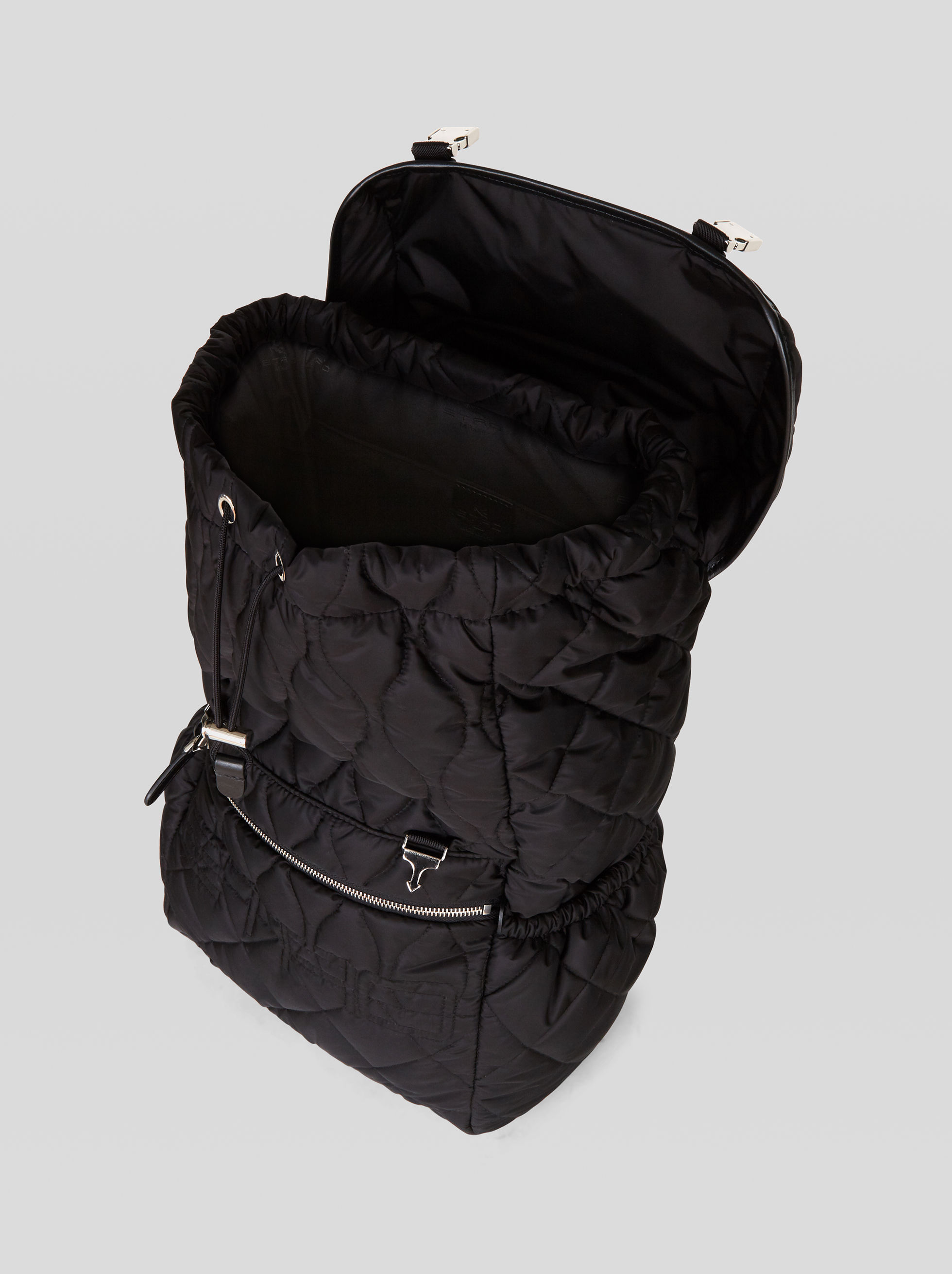 MATELASSÉ NYLON BACKPACK WITH LOGO