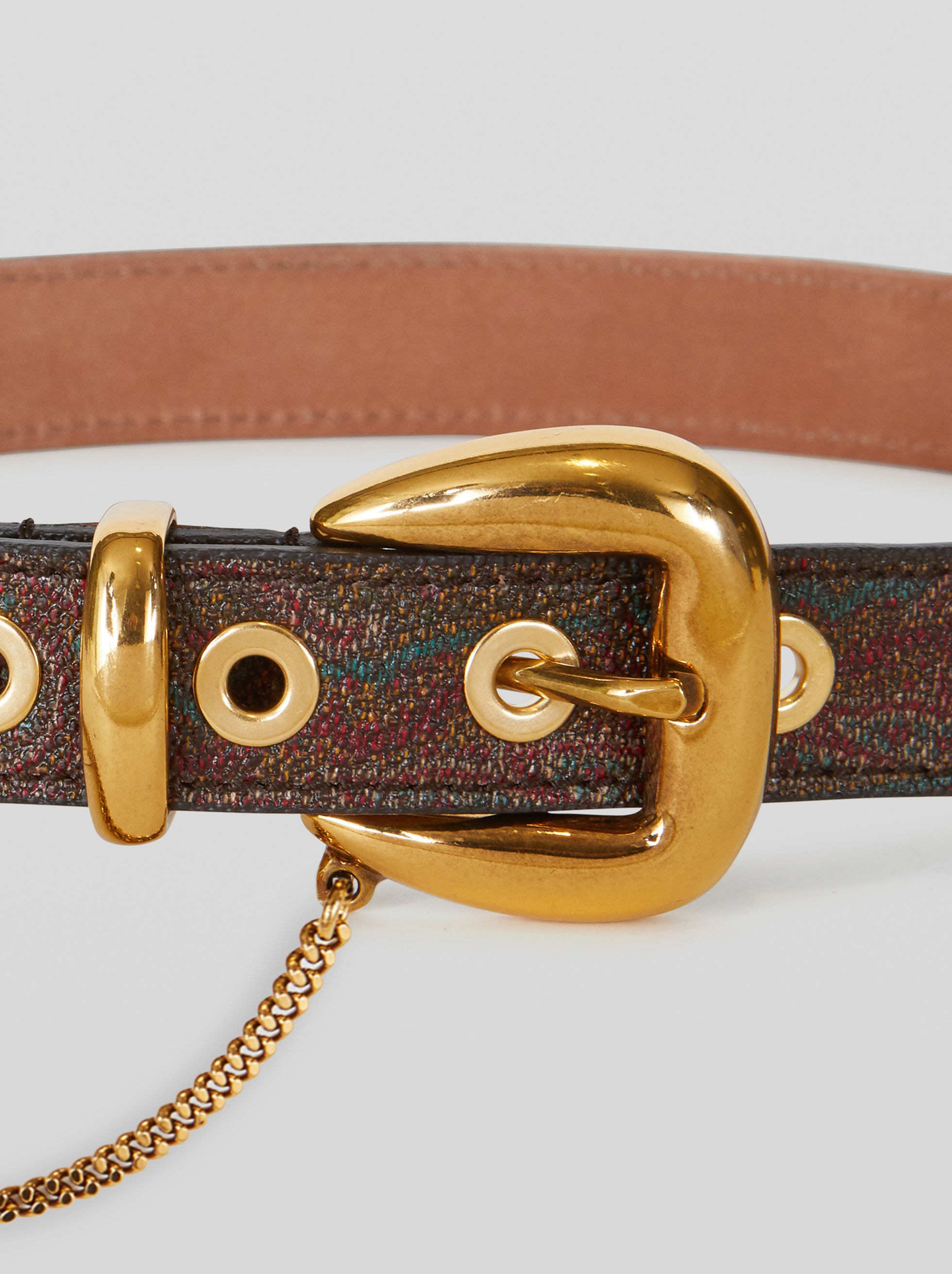 PAISLEY BELT WITH CHAIN
