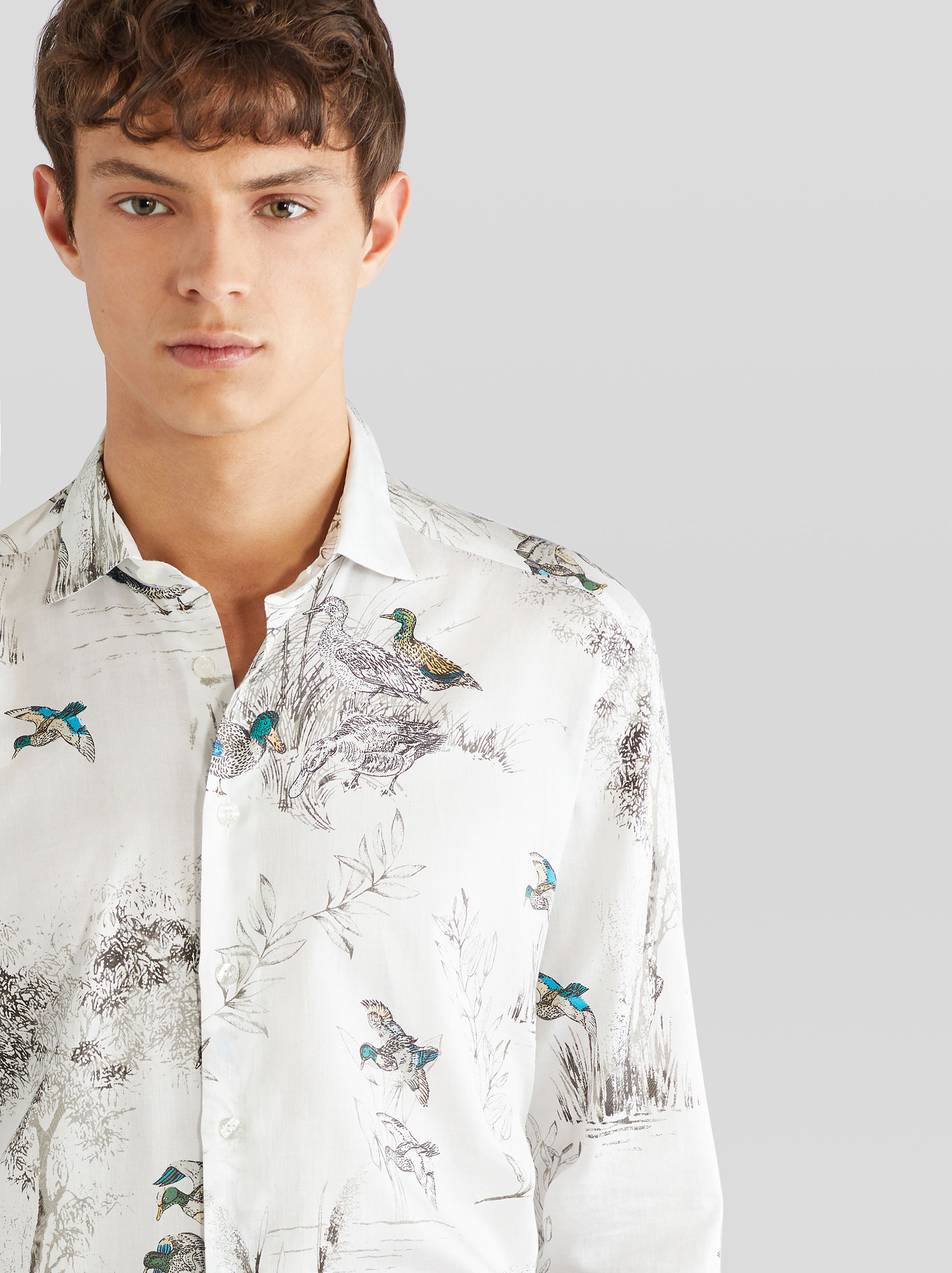 COTTON SHIRT WITH DUCK PRINT