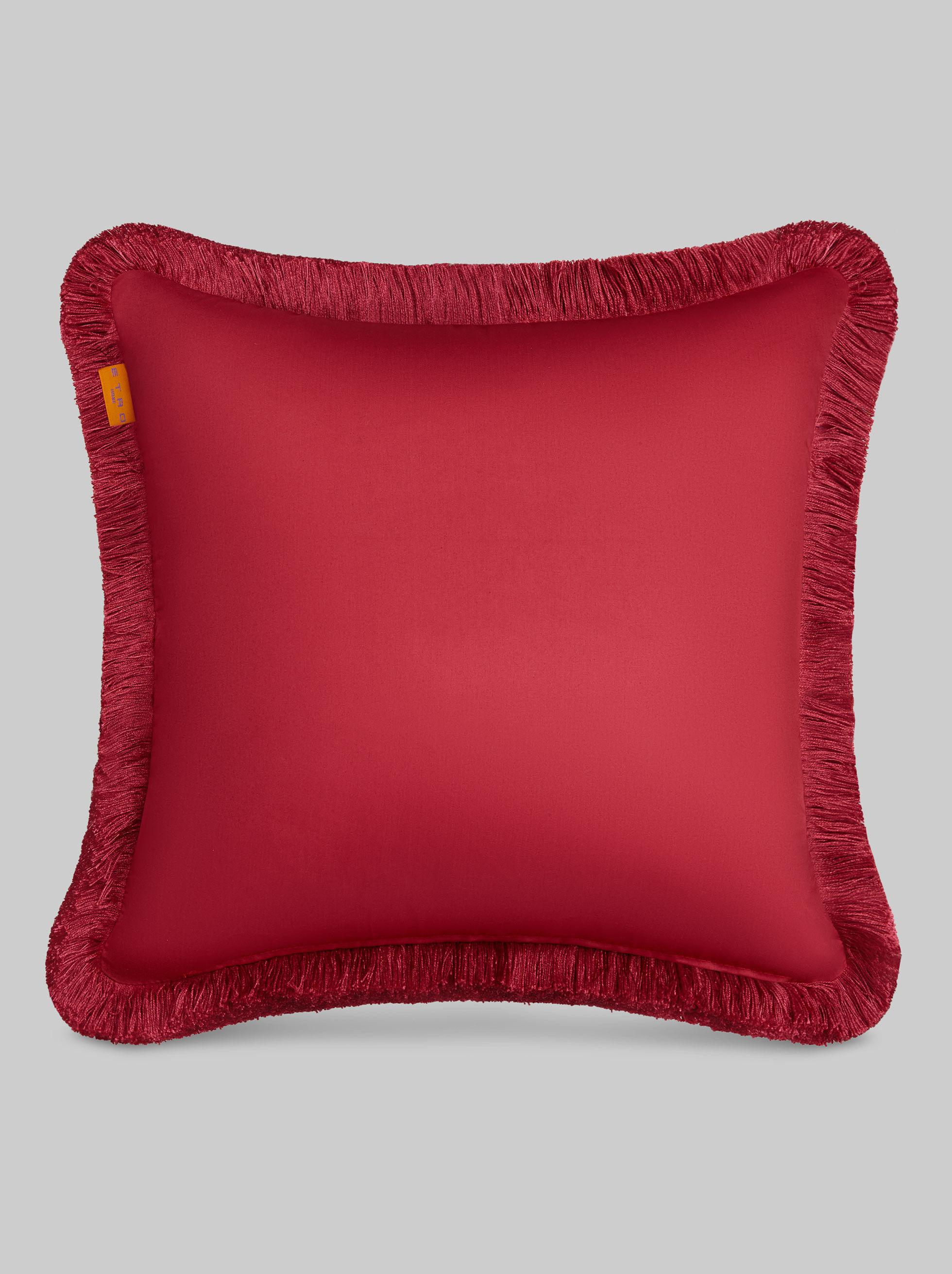 SATIN CUSHION WITH FRINGE