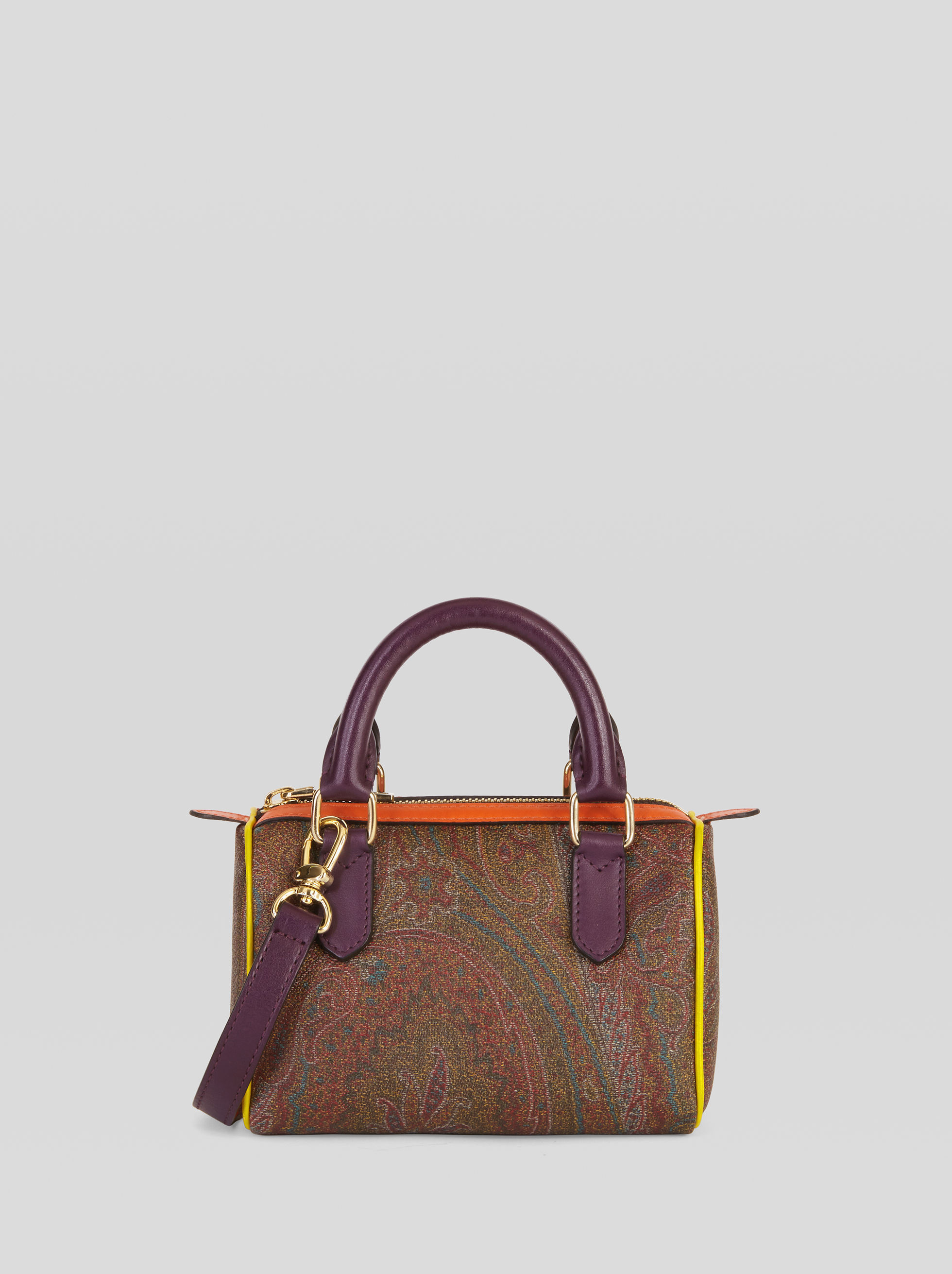 PAISLEY MINI BOSTON BAG WITH MULTICOLORED DETAILS