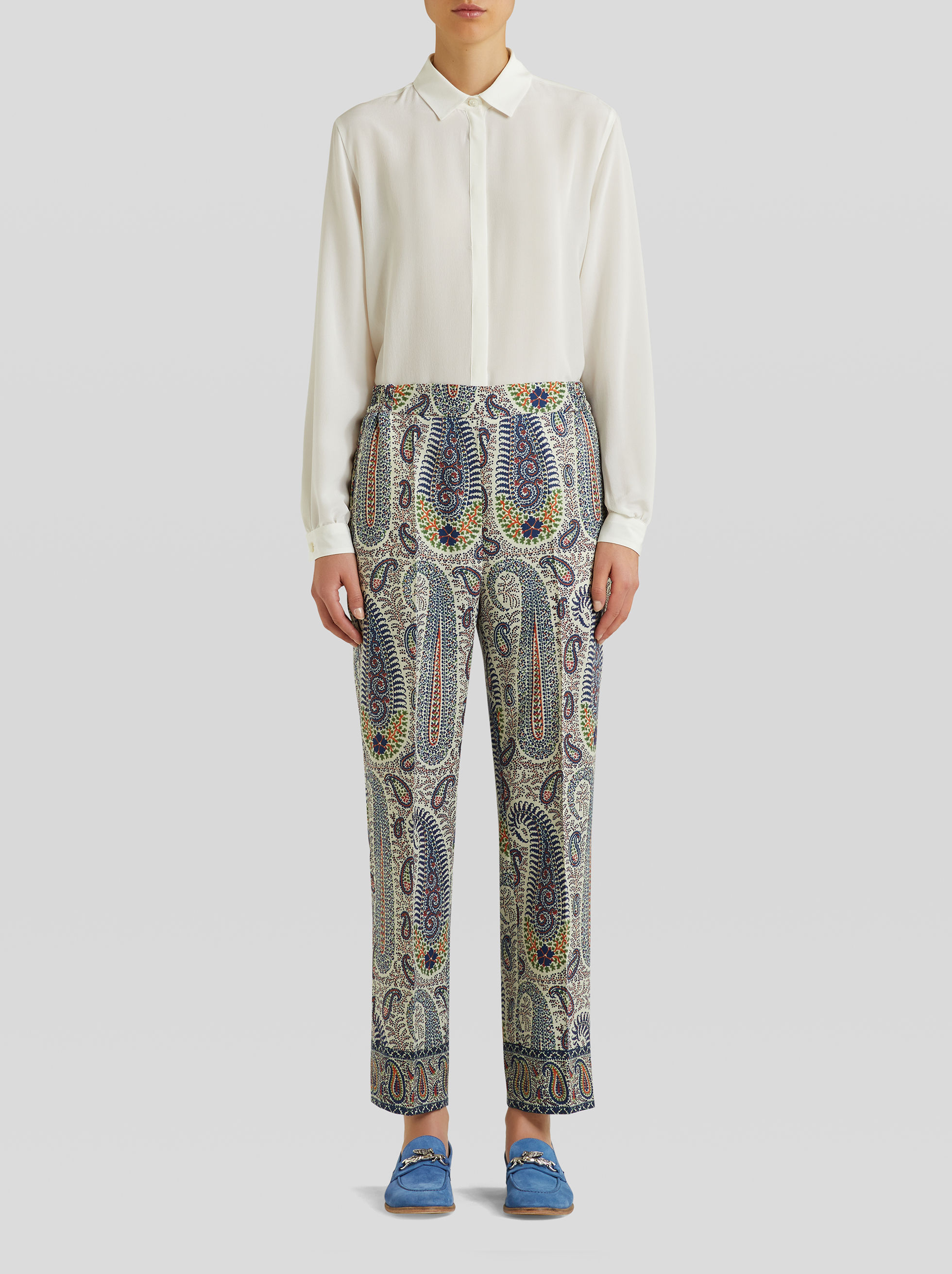 Etro Clothing WOOL AND SILK JOGGING TROUSERS