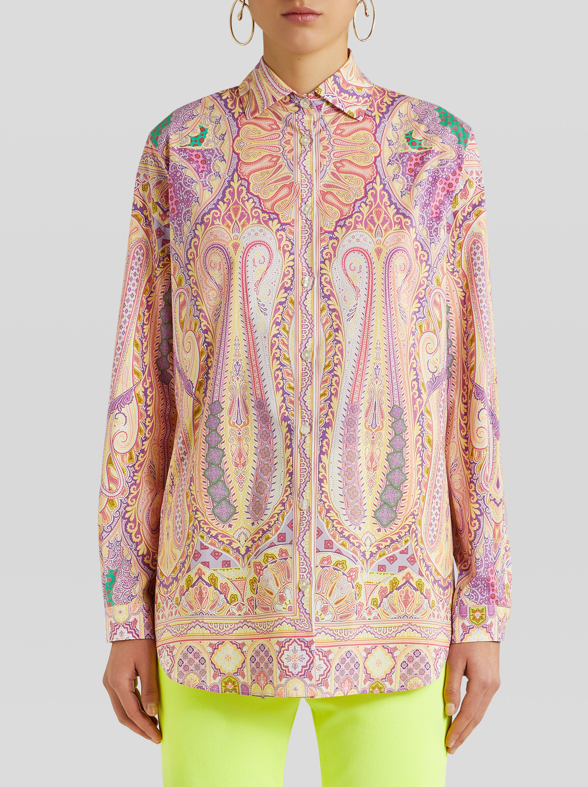 CAMICIA STAMPA  PAISLEY FLOREALE