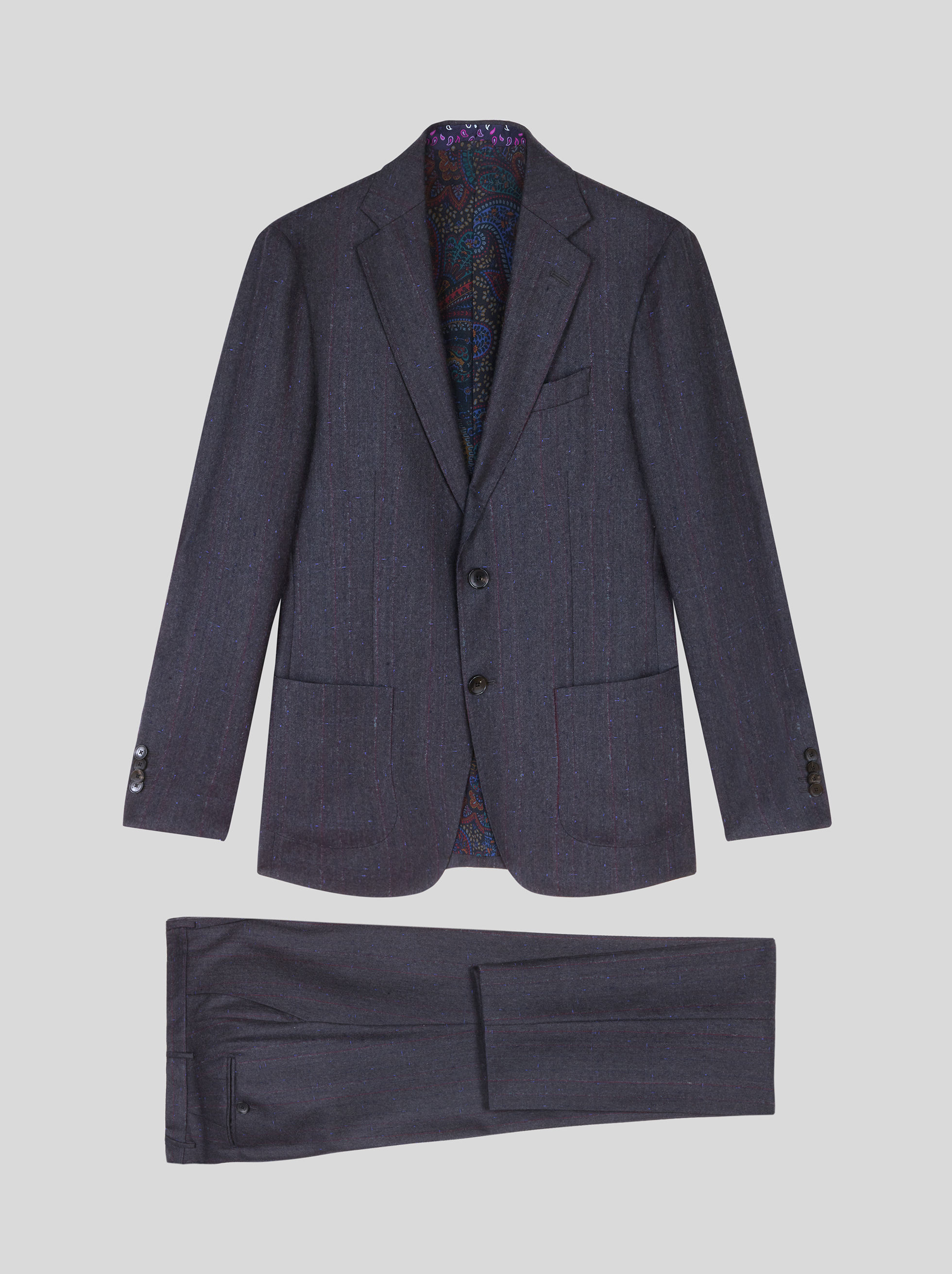 STRIPED WOOL DECONSTRUCTED SUIT
